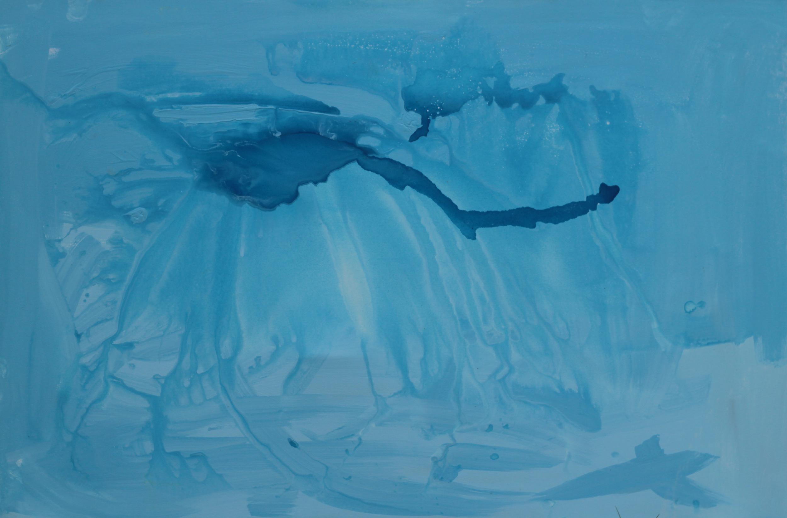 ICE CAP MELTING, ACRYLIC ON CANVAS, 152 X 120CM