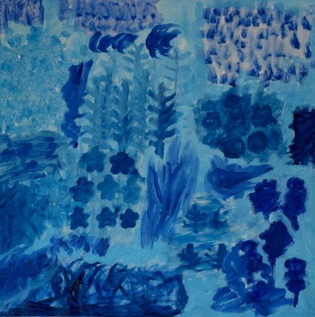 BLUE FOREST, ACRYLIC ON CANVAS, 61 X 61CM