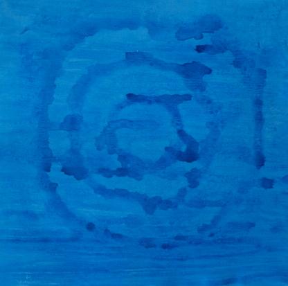 BLUE MAZE, ACRYLIC ON CANVAS, 39 X 39CM