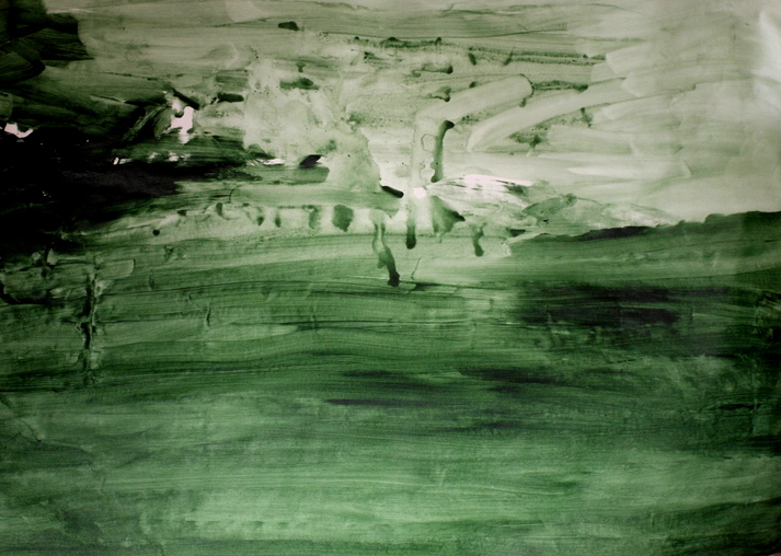 GREEN, ACRYLIC ON CANVAS, 120 X 100CM