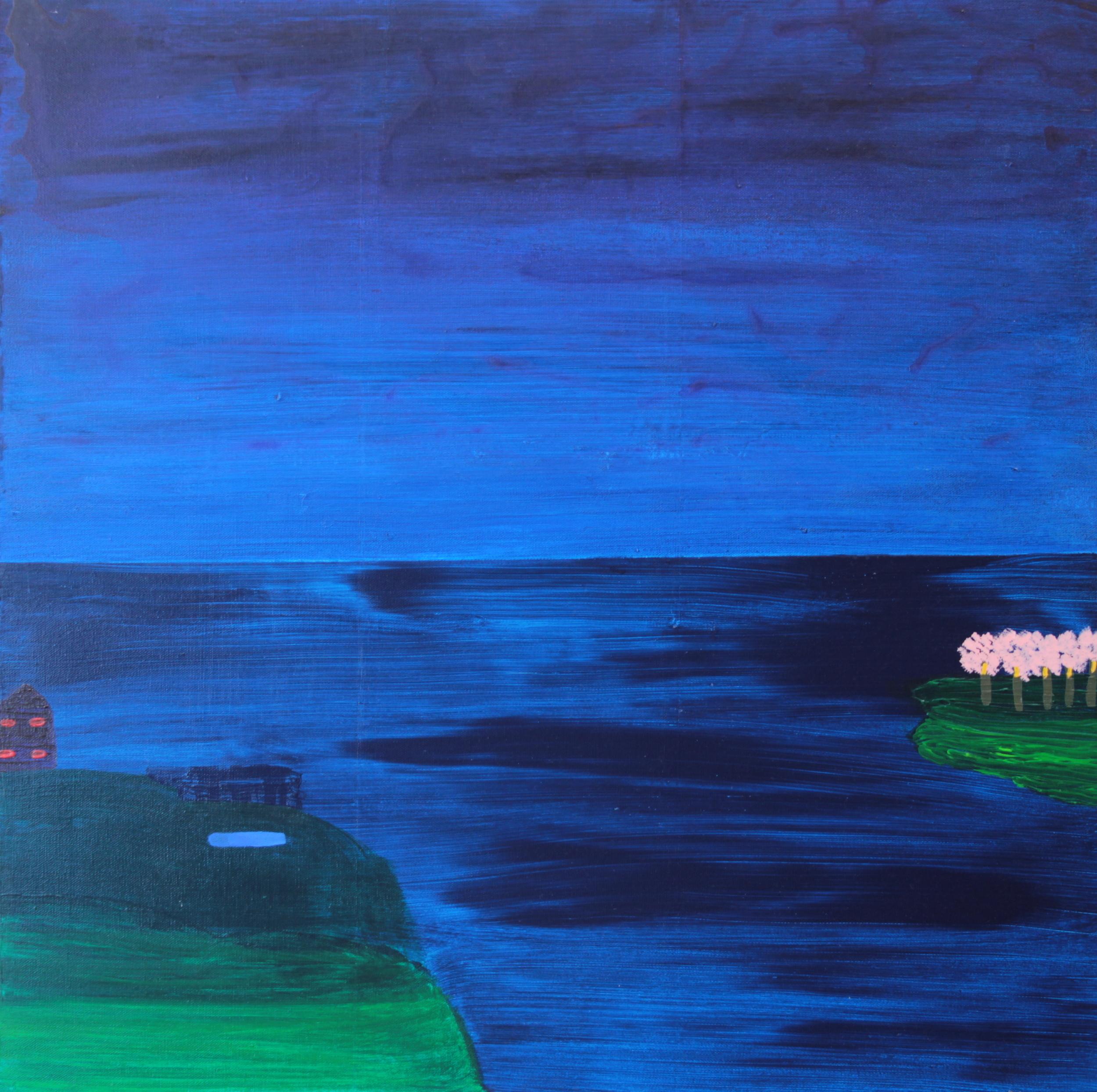 BEEHIVE ACROSS OCEAN, ACRYLIC ON CANVAS, 76 X 76CM