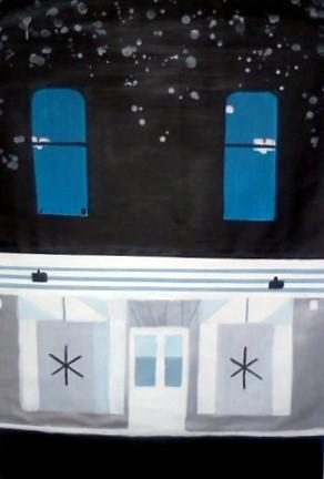 Snowy night at the gallery Acrylic on Canvas 80 X 150 cm Yaniv Janson.jpg