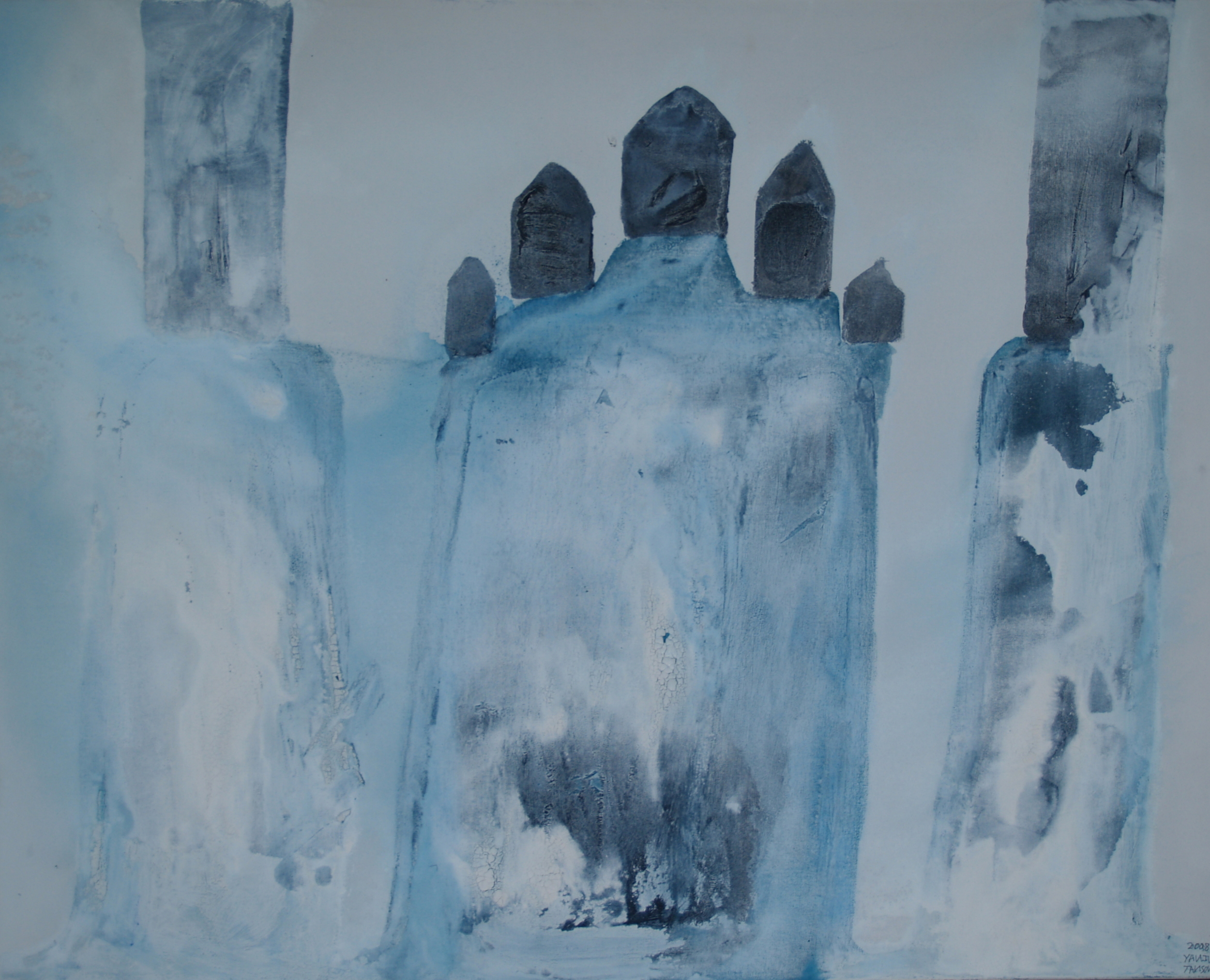 White Blizzard Acrylic on canvas Acrylic on canvas 86 X 76 cm Yaniv Janson.jpg