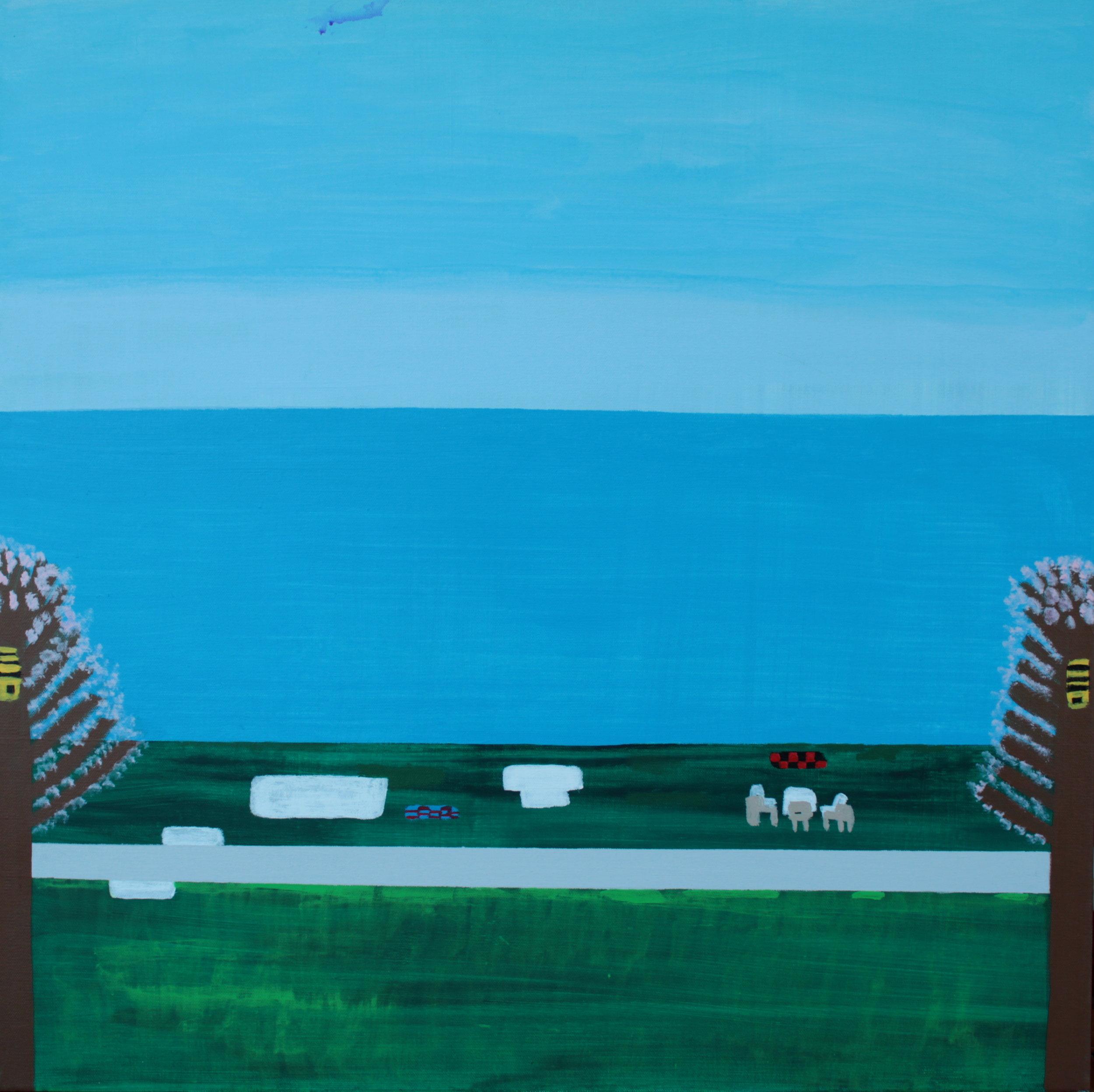 7 2014 In Bee Tween Acrylic on Canvas 76 X 76cm Yaniv Janson.JPG