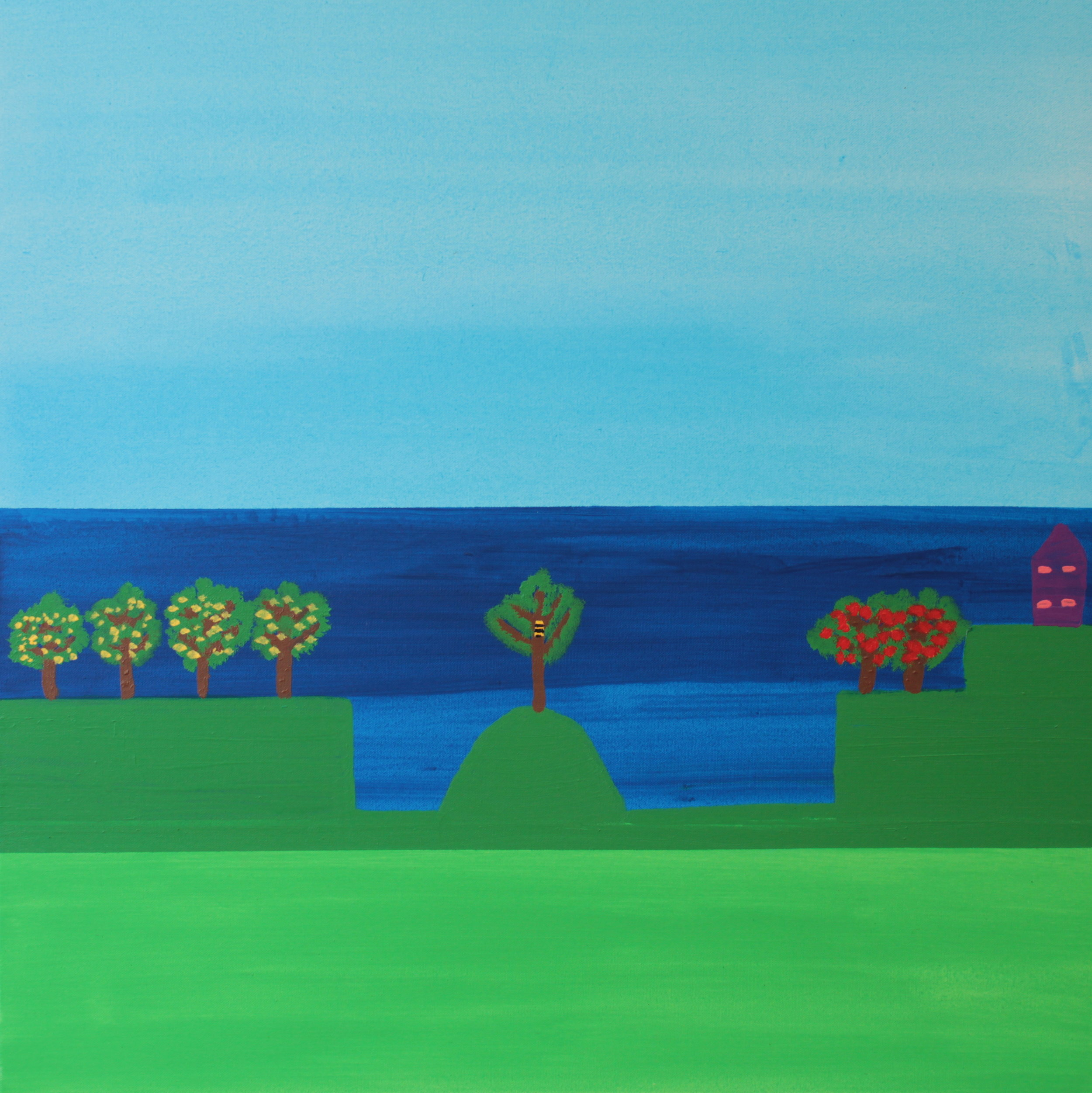 21 2014 Beehive on Round Mountain Acrylic on Canvas 76 X 76cm Yaniv Janson.JPG