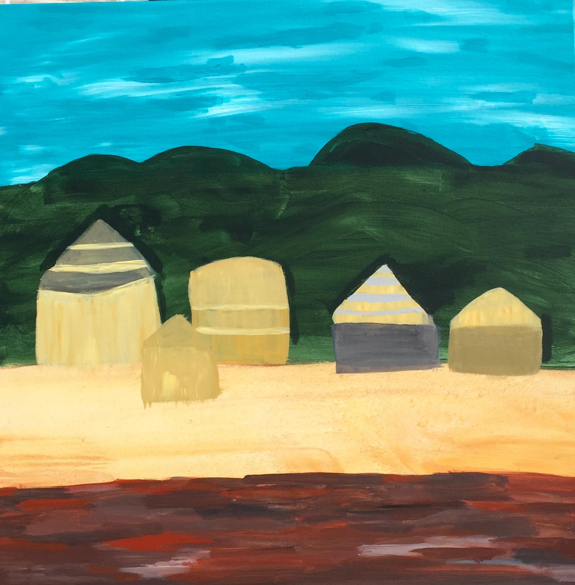 15 2016 Poor People in Straw Huts, Acrylic on Canvas, 76 X 76cm, Yaniv Janson.jpg