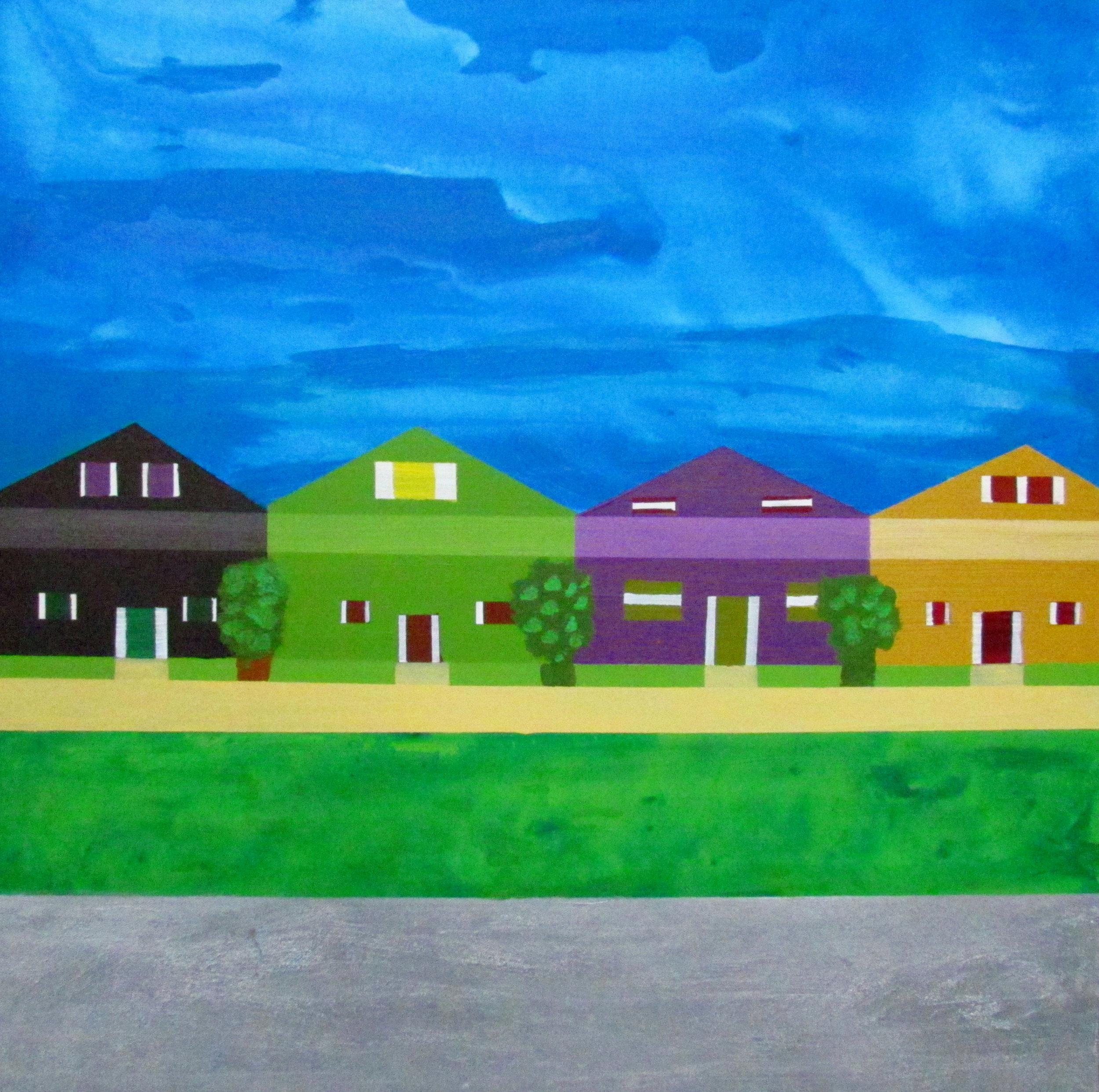16 2016 Middle Class Neighbourhood, Acrylic on canvas, Yaniv Janson 76X76cm.JPG