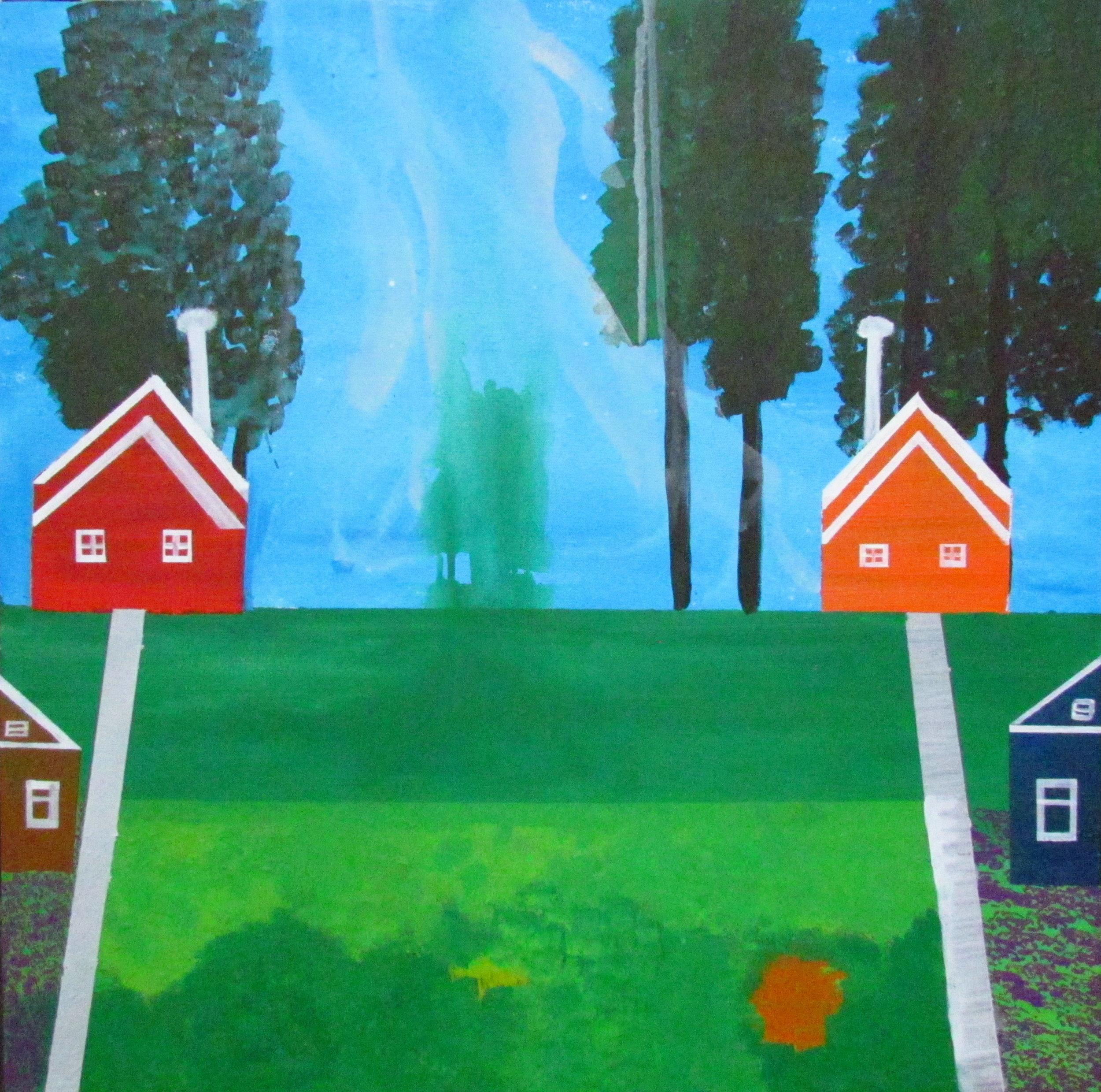 17 2016 Middle Class Village, Acrylic on canvas, Yaniv Janson 76X76cm.JPG