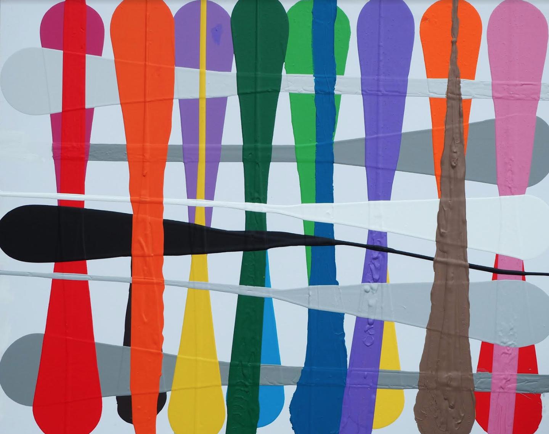 2018 Weave Acrylic on Canvas 102cm x 76cm