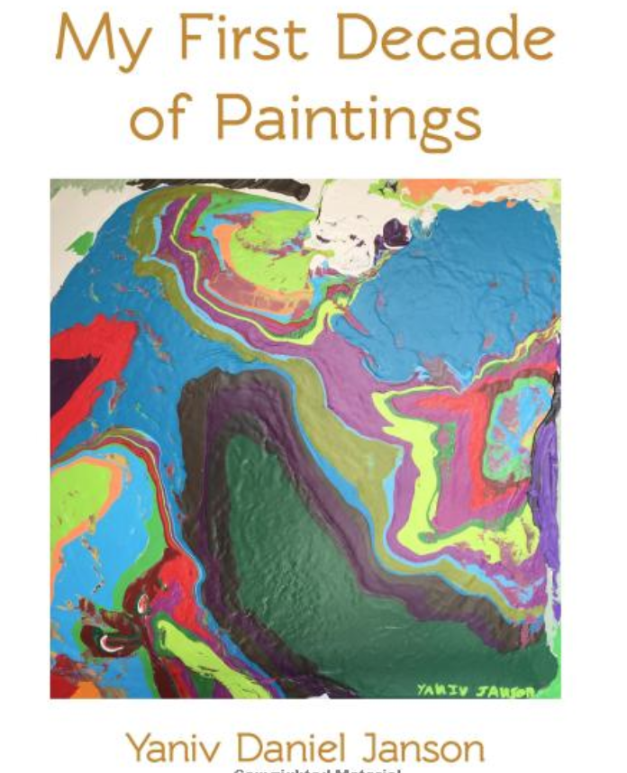 My first decade of paintings - A review of a decade of Yaniv Janson's work - appreciating and noticing changes in style. As the environment changes, so does Yaniv's work. This book serves as a testament to the ever-thinking artists mind.