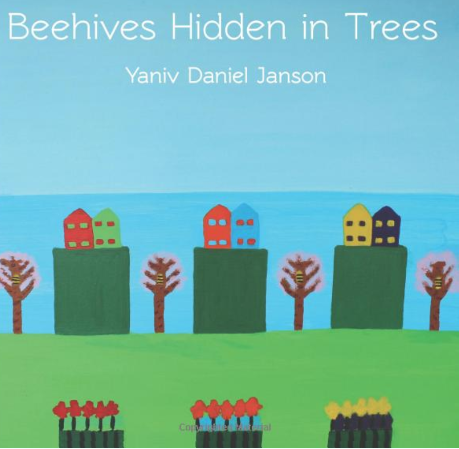 Beehives Hidden in trees (2014) - Paintings for and to the bees. Bees are one of the most important species for the integrity of the environment - they're also threatened by global climate change, industrialization and human influence. Yaniv Janson has a acute awareness of the collapse of bees colonies with unique visual acuity around bees and their environs.