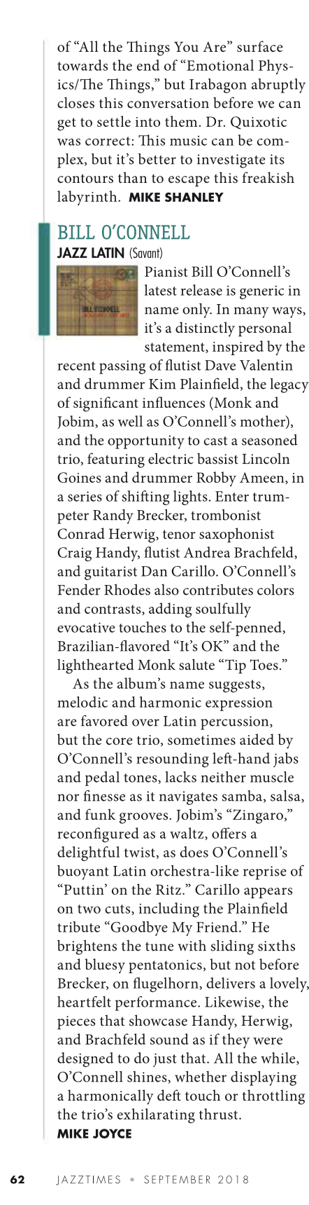 Bill O'Connell Lazz Latin JazzTimes Sept 2018.png