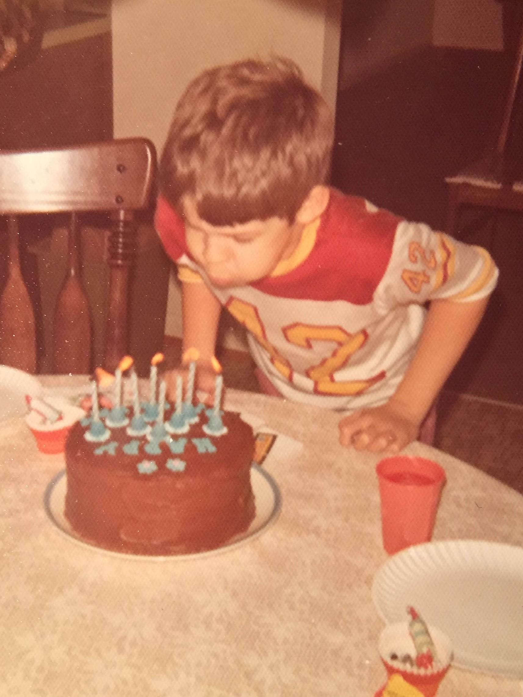 Eighth birthday. Not traumatic.