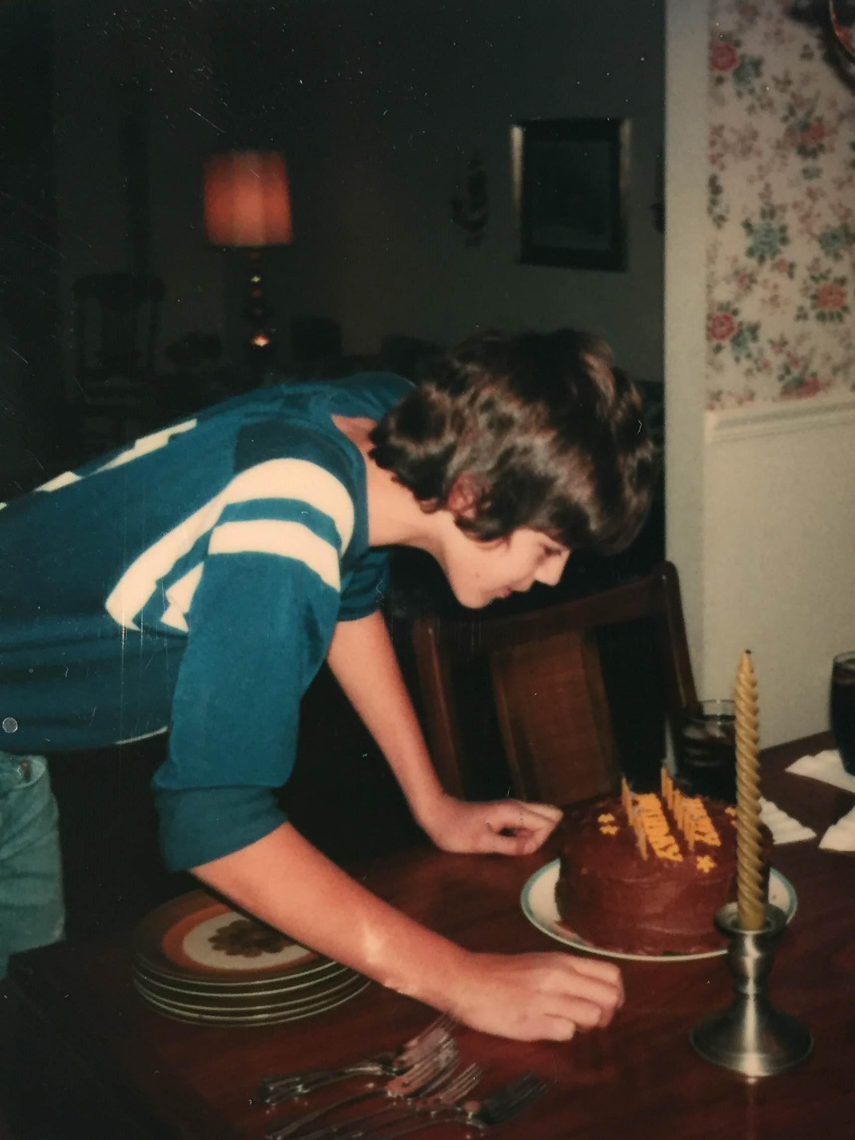 Thirteenth birthday. Also not traumatic.