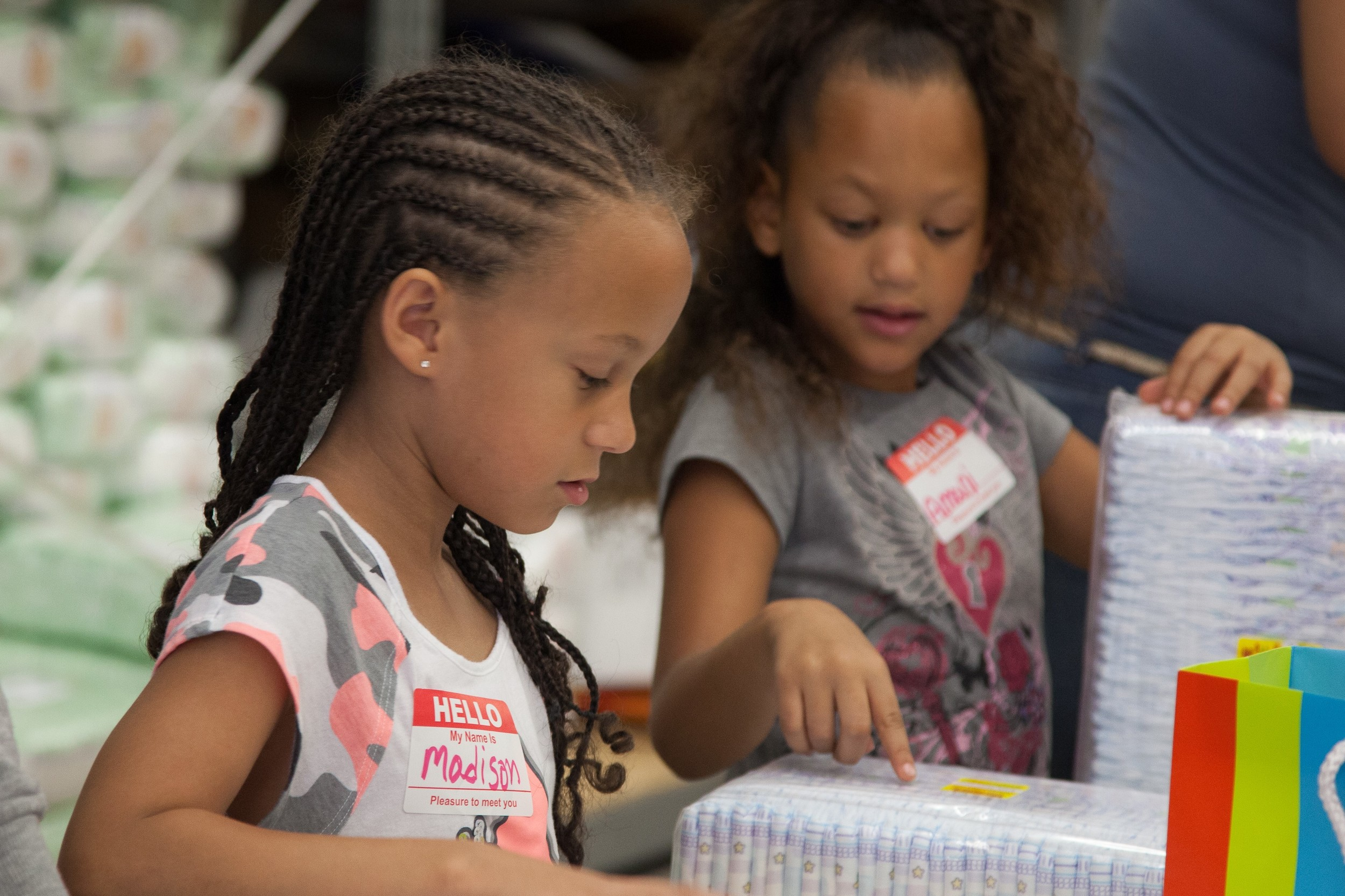 Families with kids are encouraged to  volunteer  at the DC Diaper Bank.