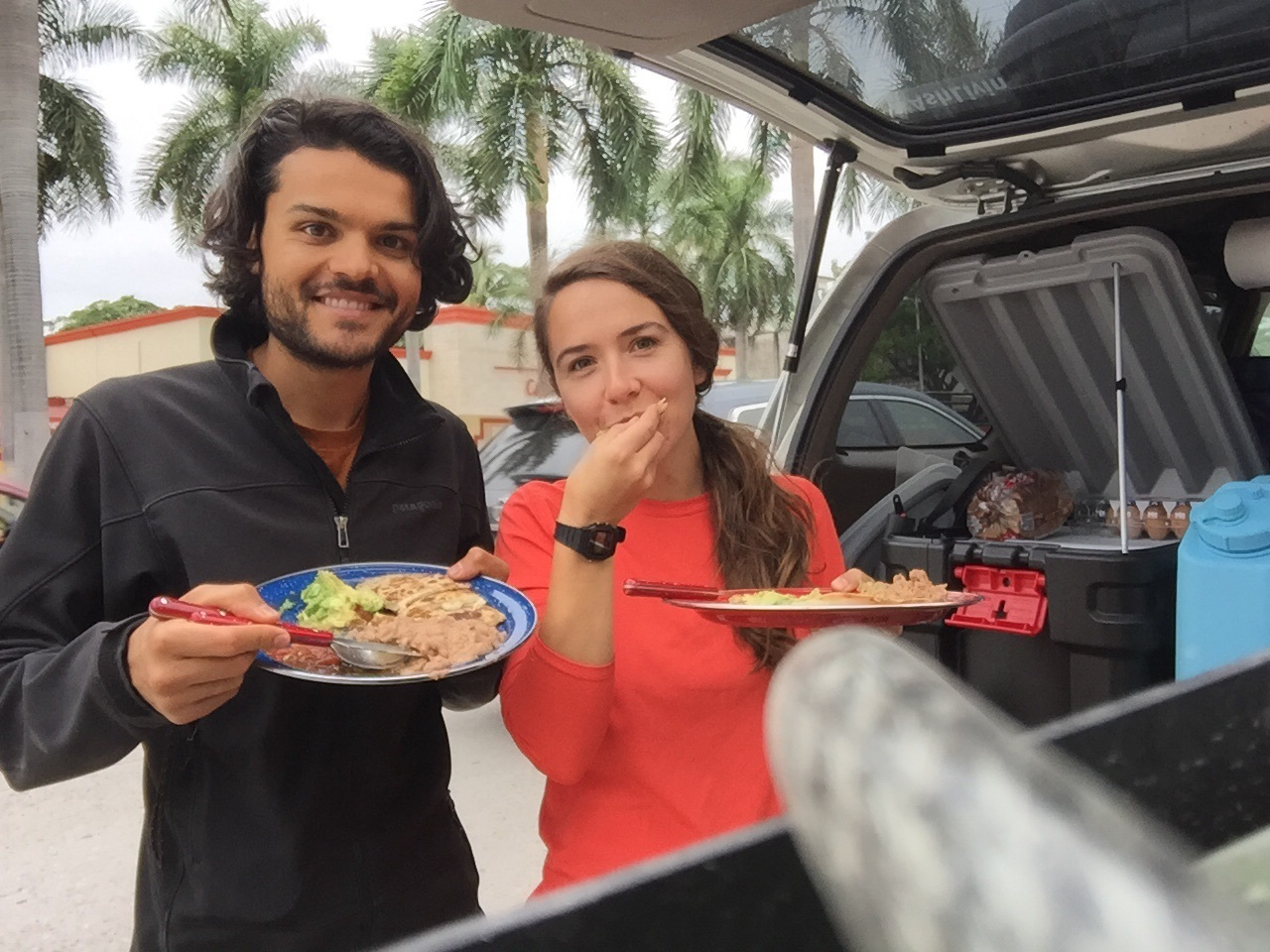 """Redefining street food - just made a last minute lunch """"on the road"""" in Ciudad Valles"""