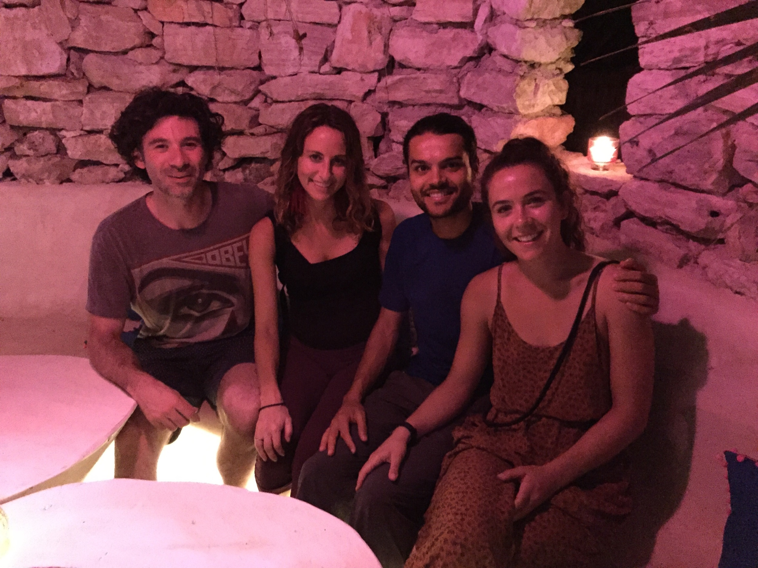 Also randomly bumped into Hayden (Liv's friend from SF) and Justin (our new friend!) at a restaurant in Tulum and then spent NYE with them on the beach! Cooked them dinner out of the back of our car and danced the night away on the playa.