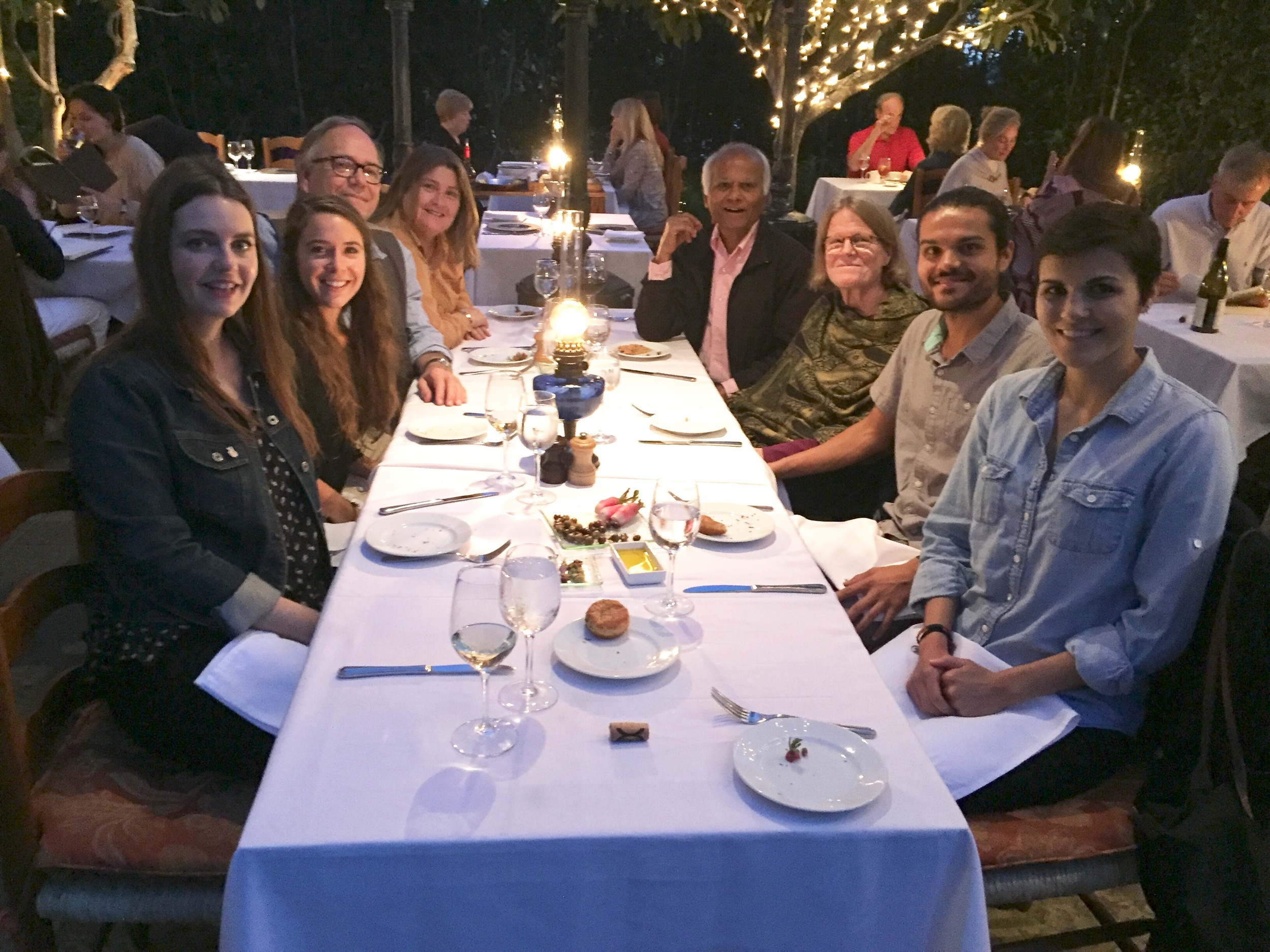 Double family dinner at San Ysidro Ranch!