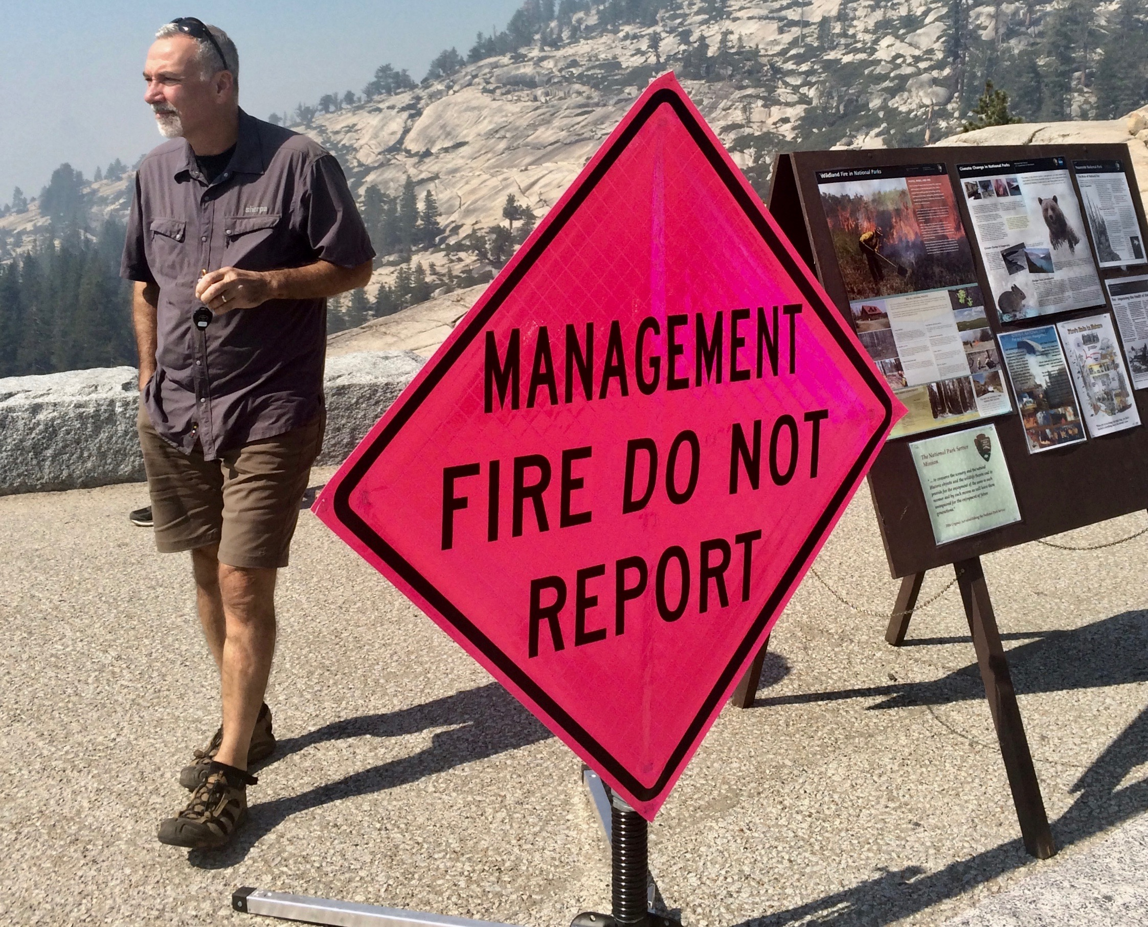 A management fire in the Wilderness is an attempt to let nature take its own course.