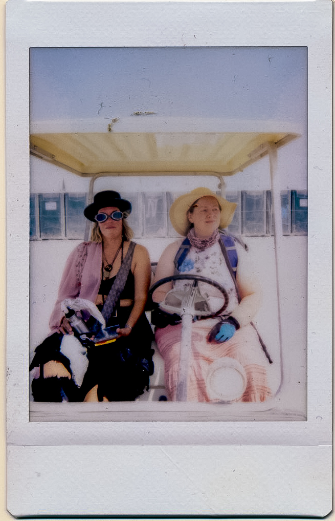 Polaroid of Dawn and me on Leave-No-Trace Outreach.