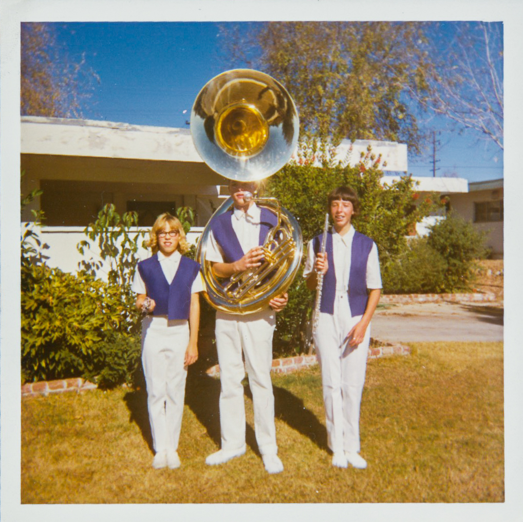 Me, Brad Wirth and Janice Wirth ready for the Redlands Christmas Parade. Band was everything.