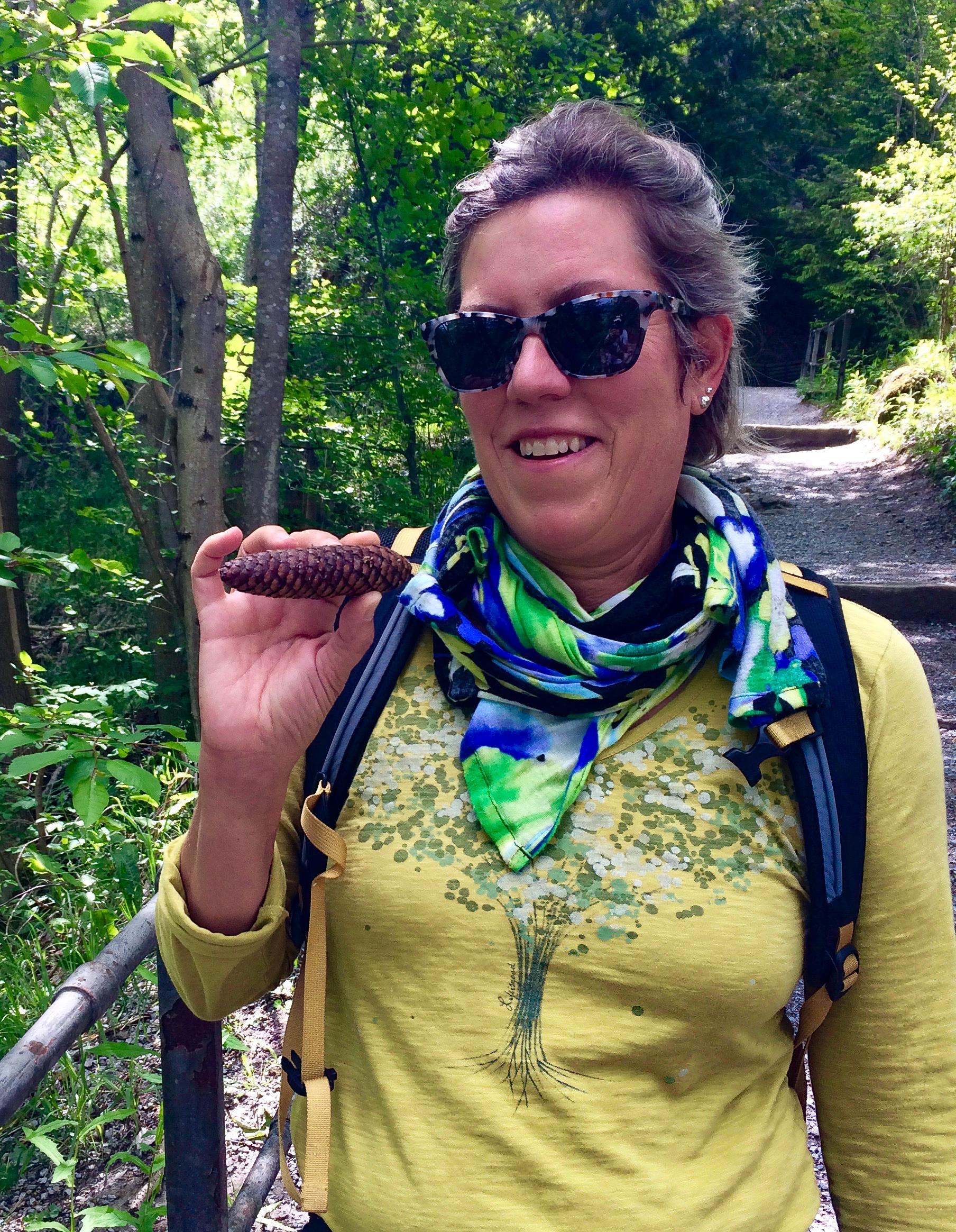 I had a wonderful trip. Cigar shaped spruce cone.