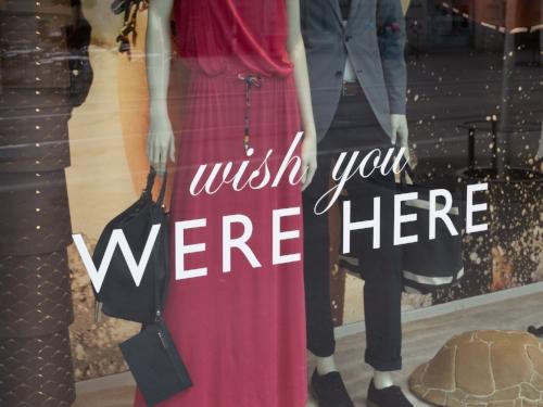 I do wish you were here. I wish I were here too.