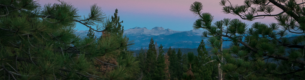View of Banner and Ritter Peak,Yosemite Wilderness,from our location in the Ansel Adams Wilderness.