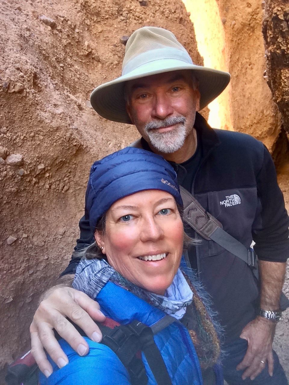 Keith and I hiking in Death Valley.