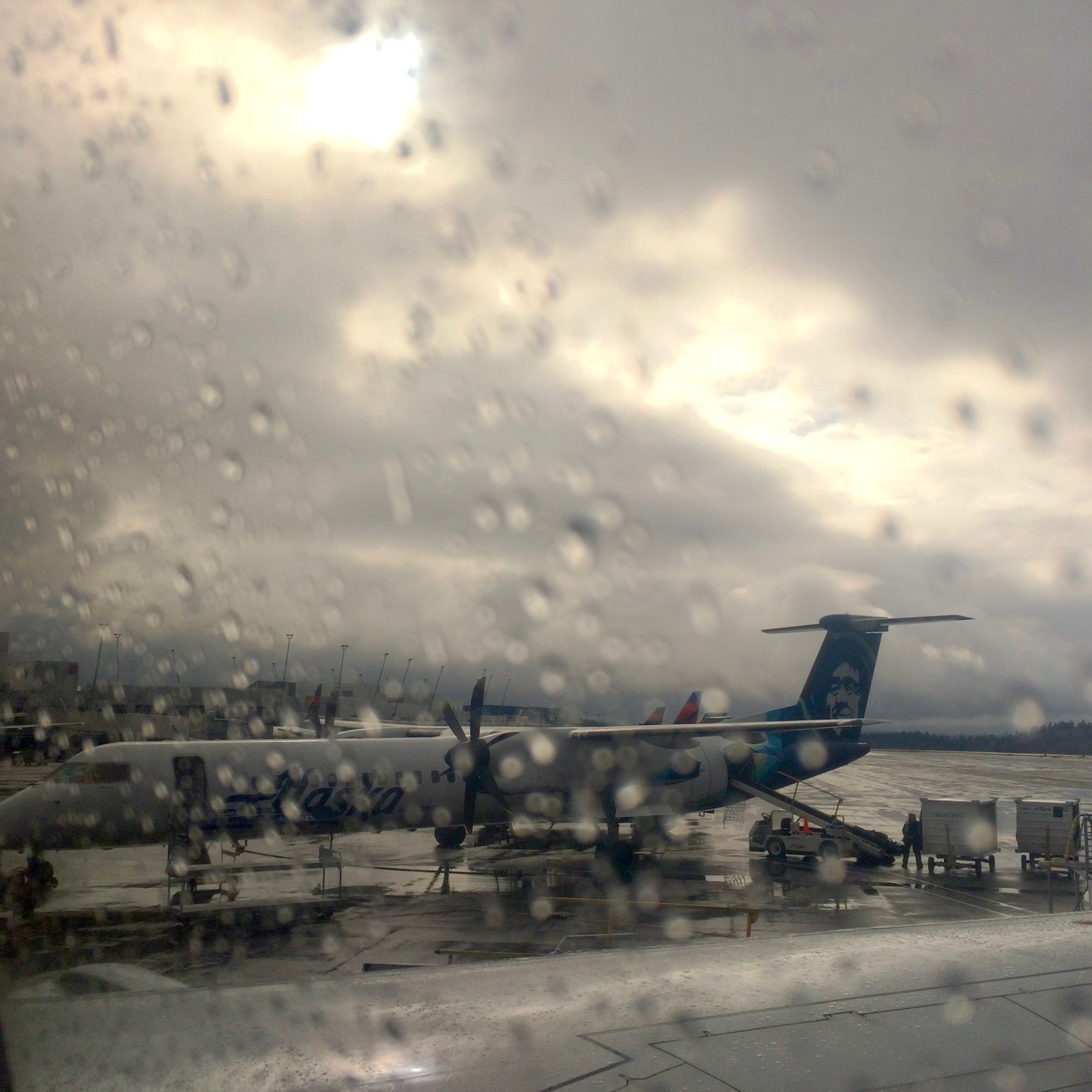 Day 6. Seat 17D, Window view.