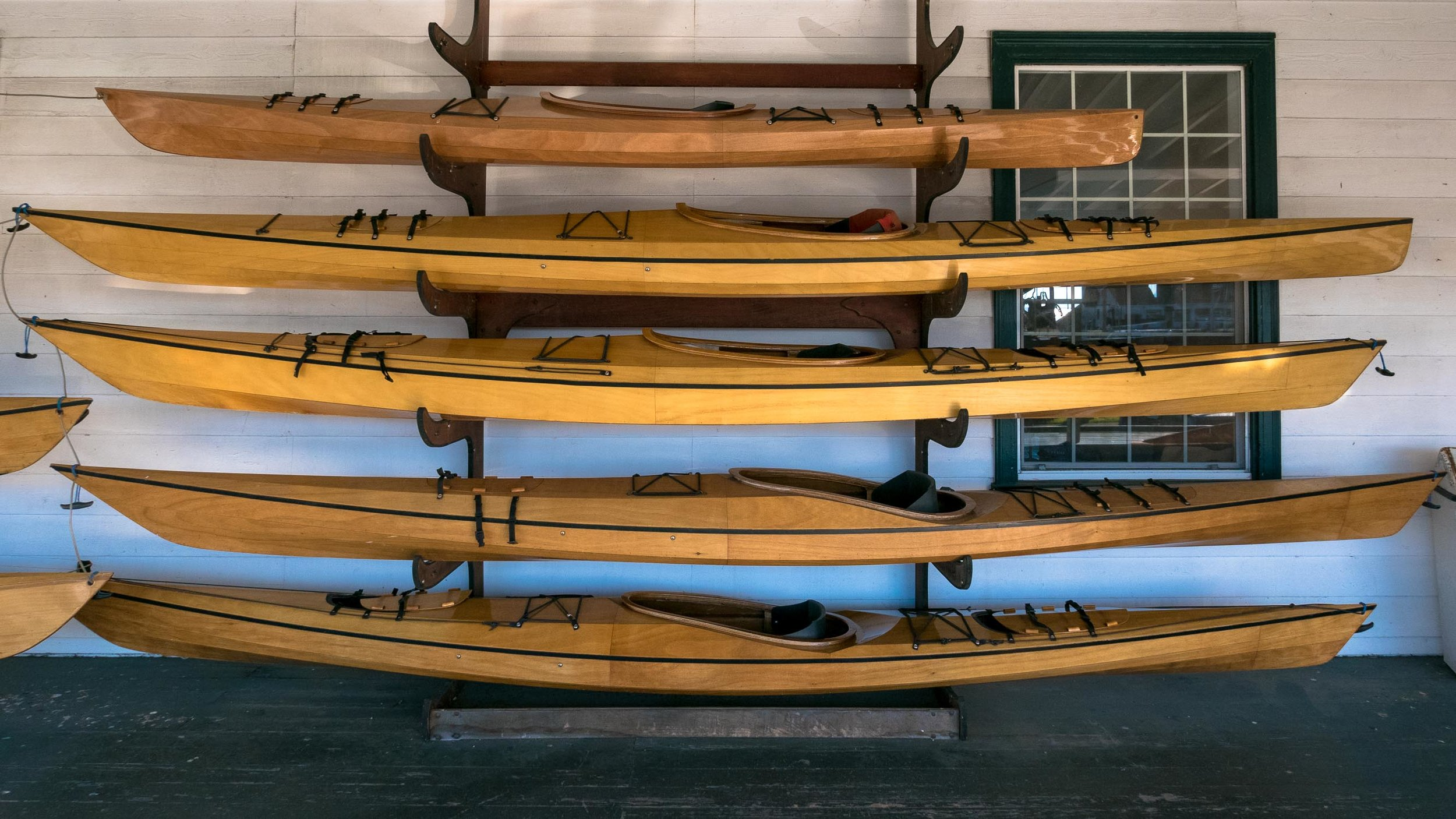 Day 4. Wooden sea kayaks are a work of art!