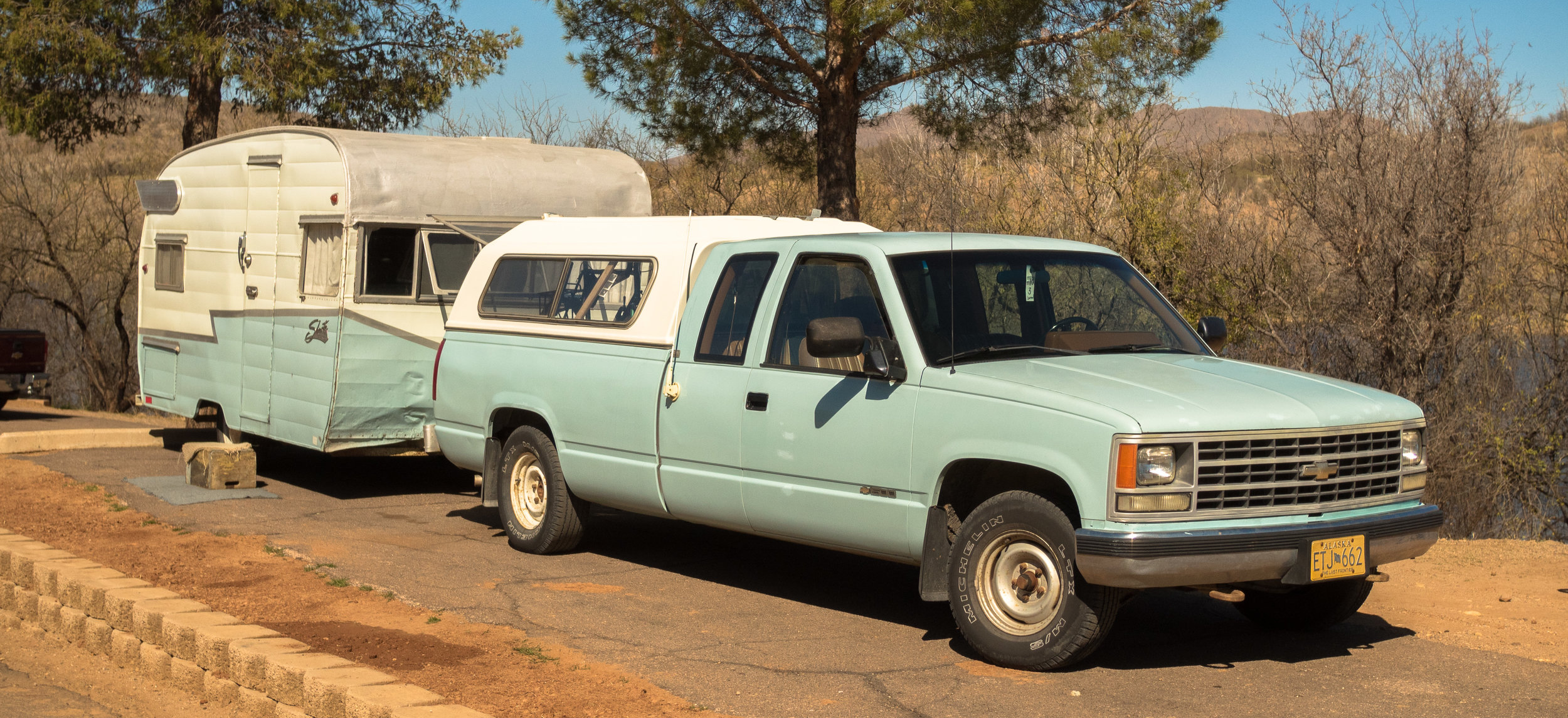 Retro works in Arizona, in Patagonia State Park Campground.
