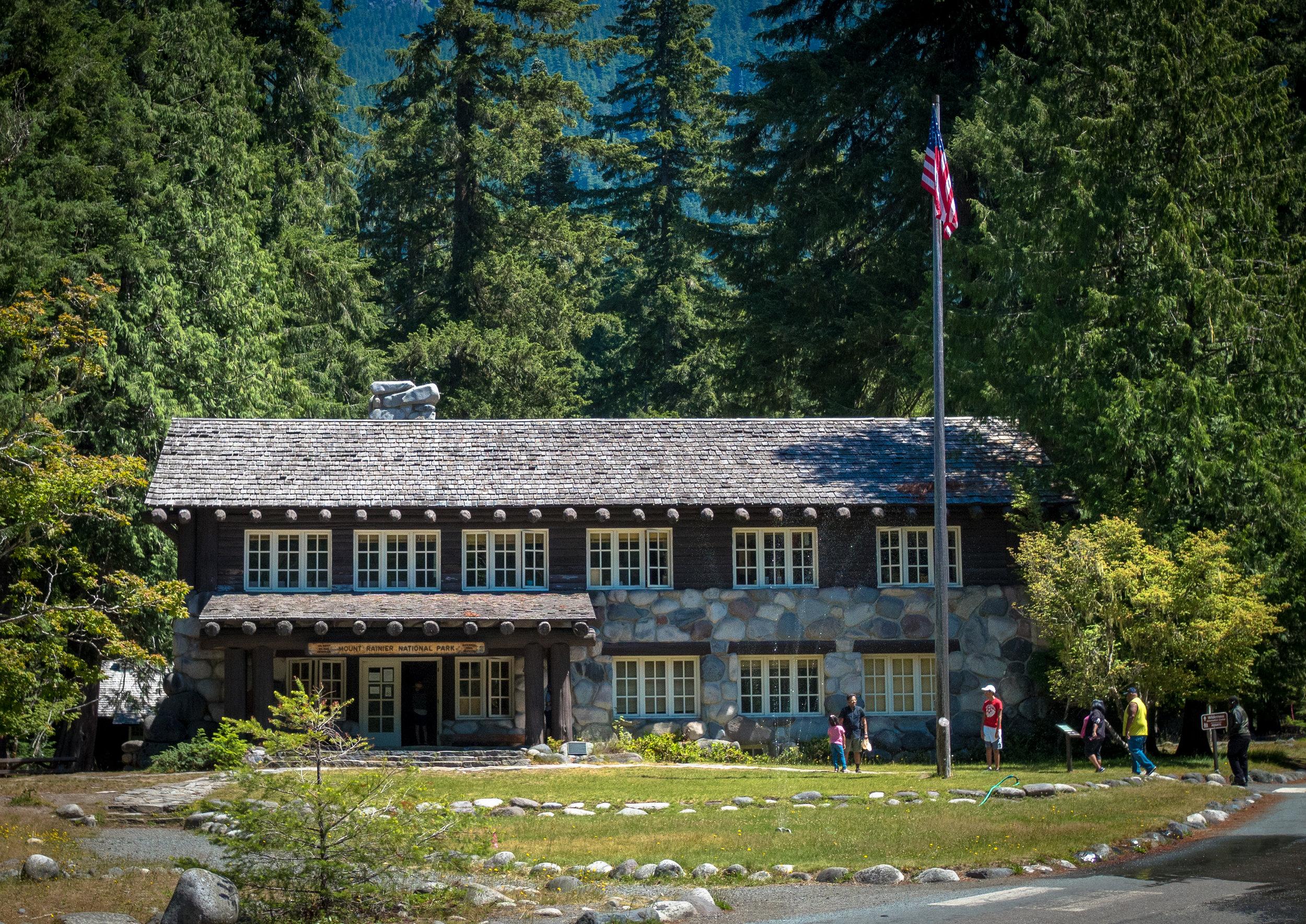 Longmire Museum in traditional Park Service motif.