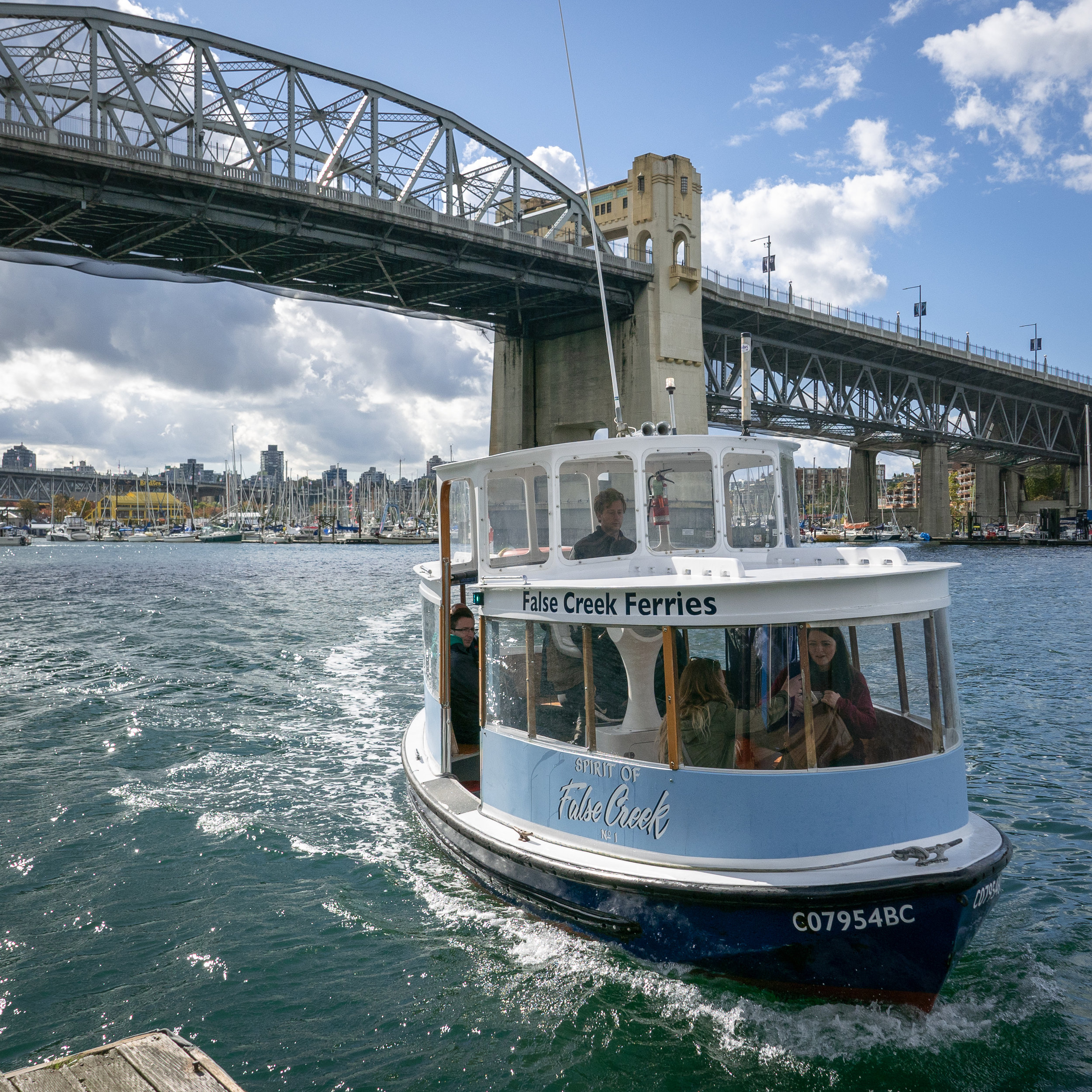 The cute little ferry to  Granville Island Public Market.