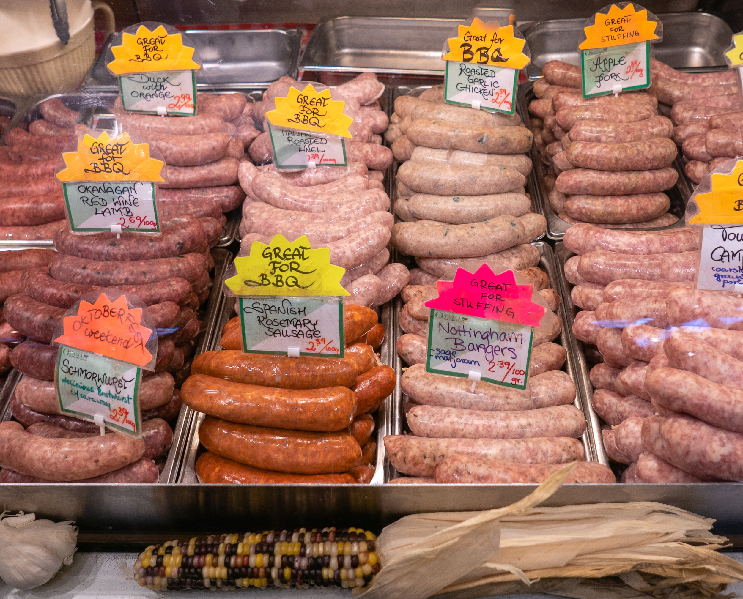 Would you, could you BBQ? There is plenty of meat to eat at  Granville Island Public Market .