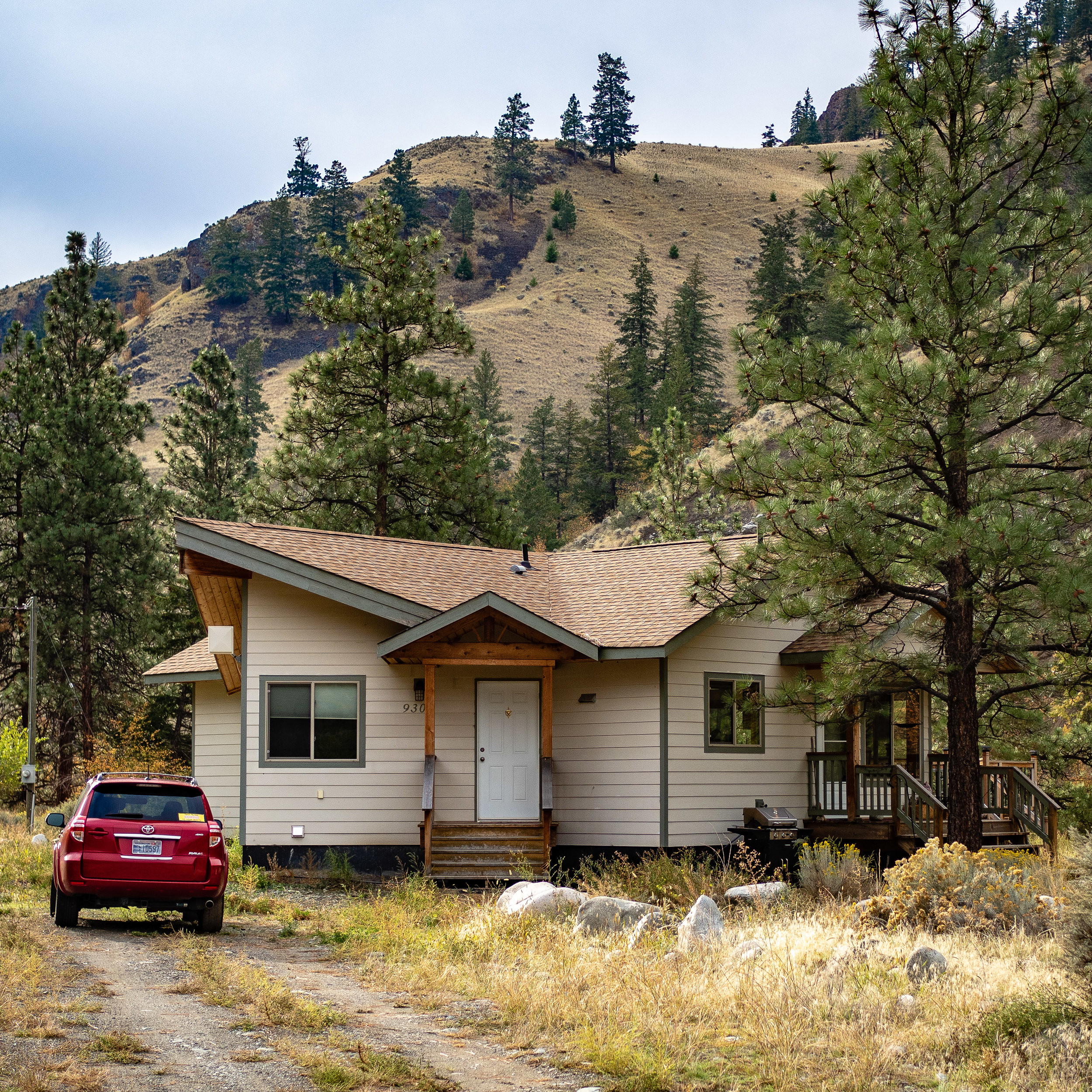 Our  Airbnb at Spences Bridge . ( See link for description)
