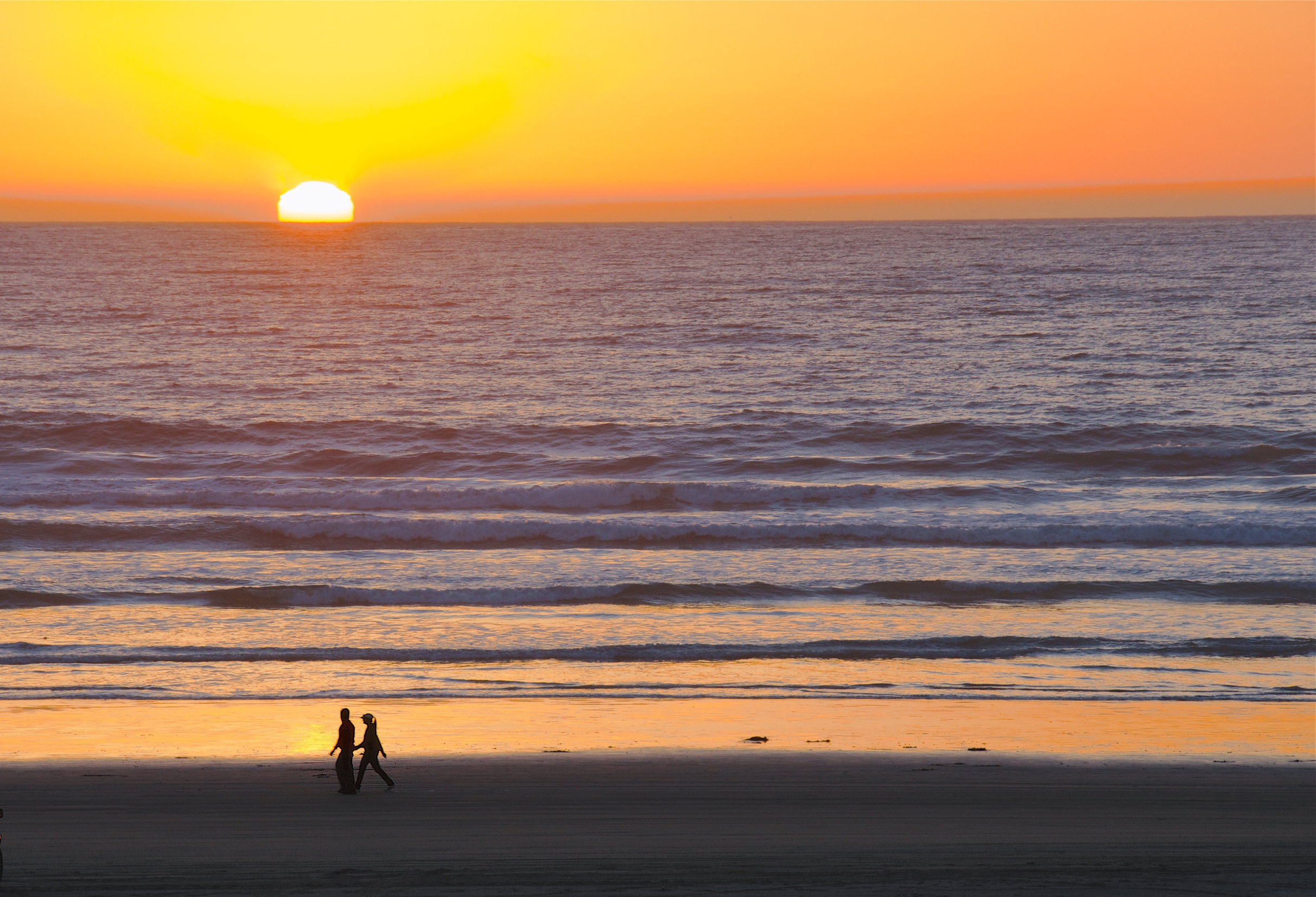 A romantic sunset at Pismo Beach.