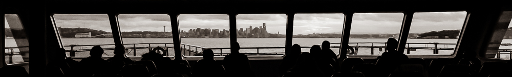 The view from the WSDOT ferry, approaching Seattle.