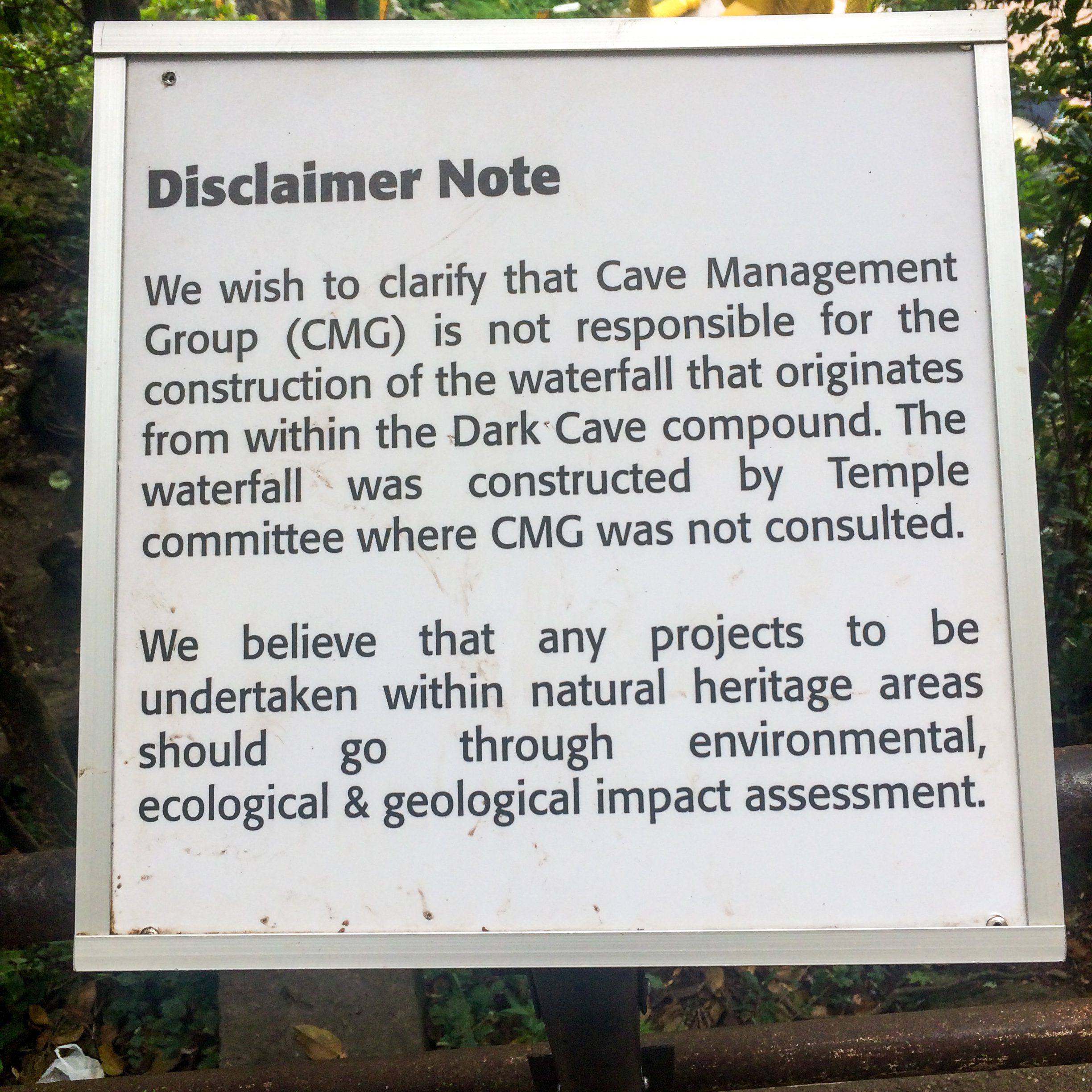I think the Cave Management Group doesn't like that waterfall.