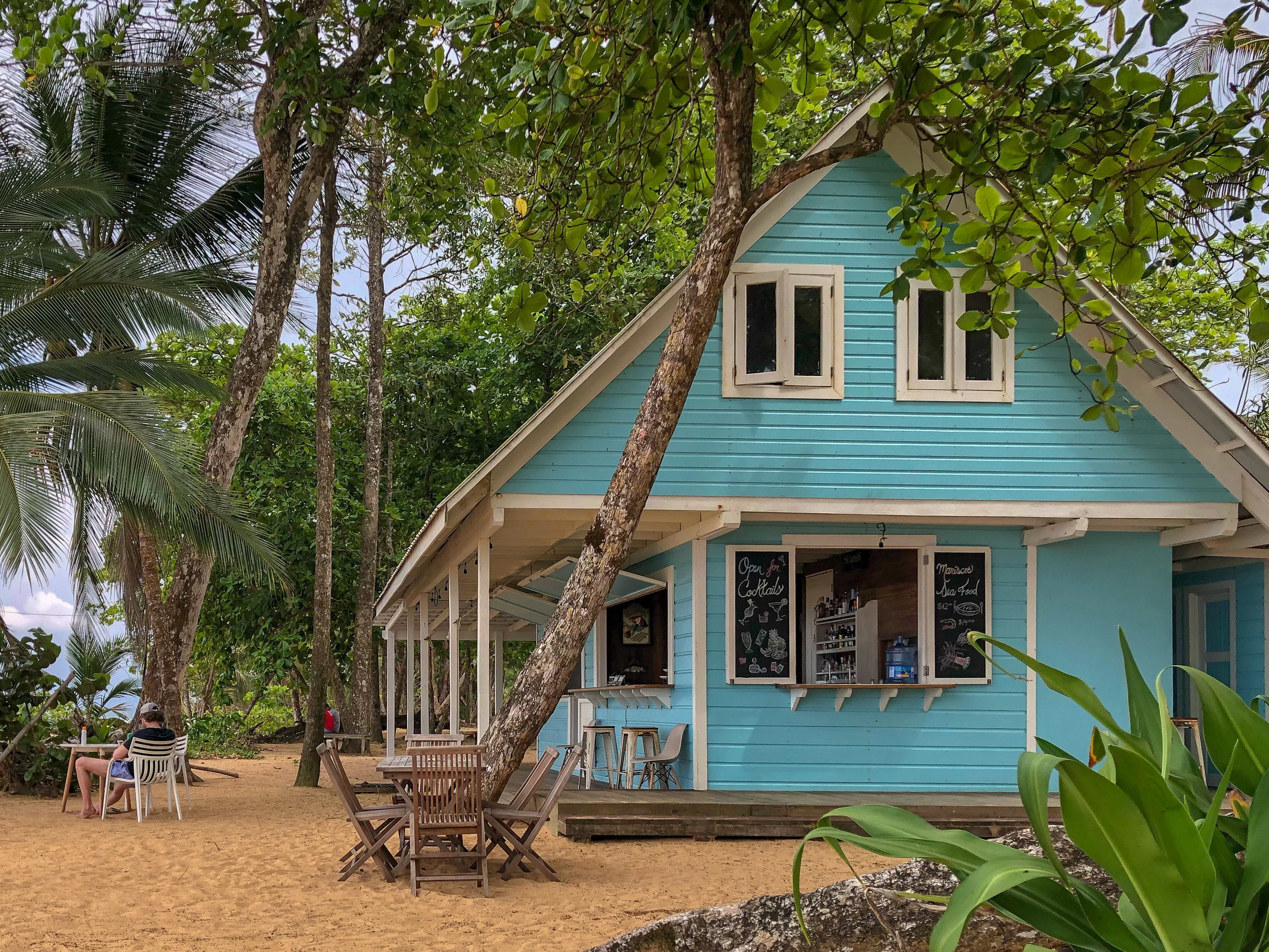 My favorite beach bar on Bluff Beach, Bocas del Toro.