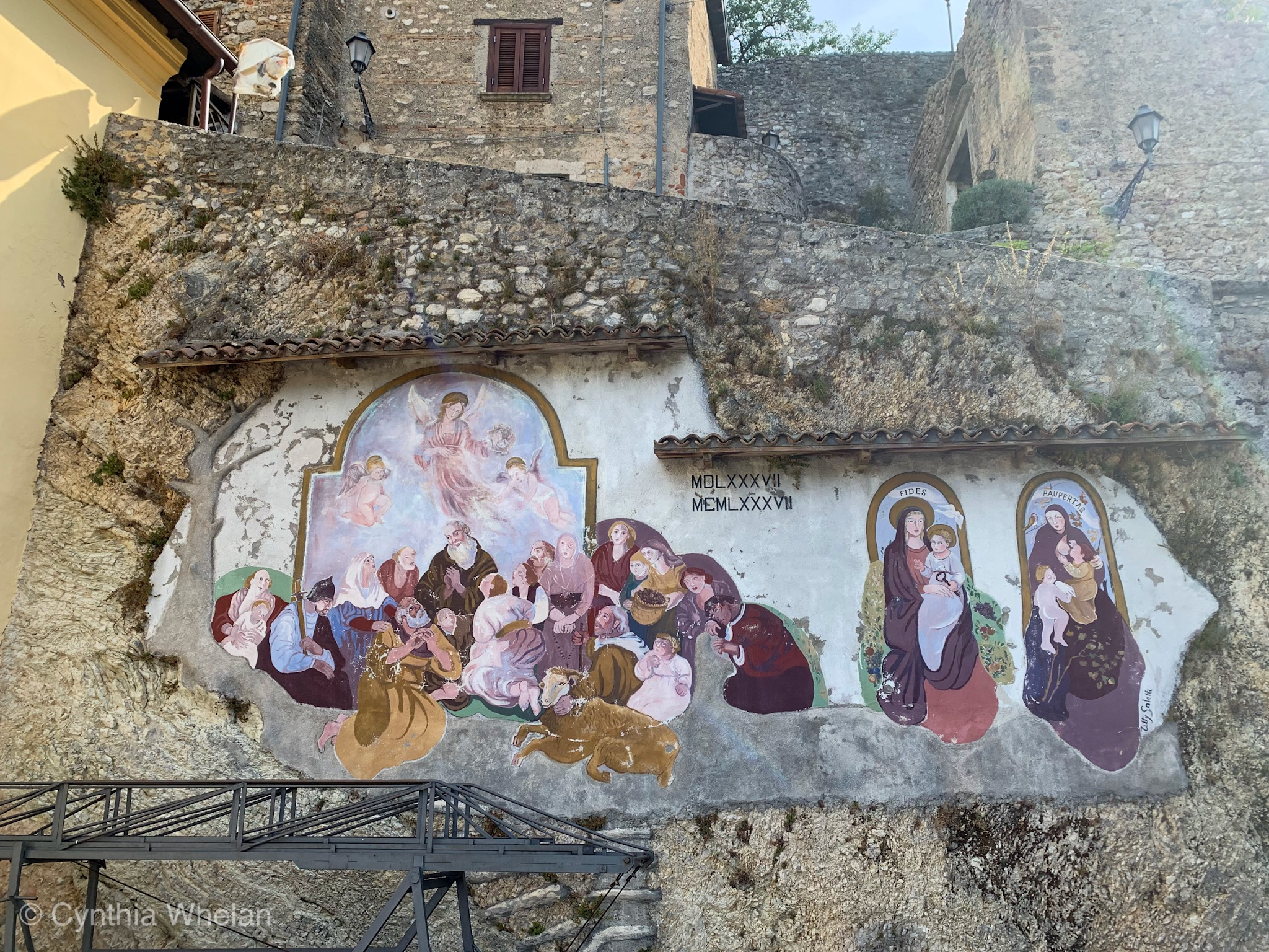 A hill town church's contemporary mural.