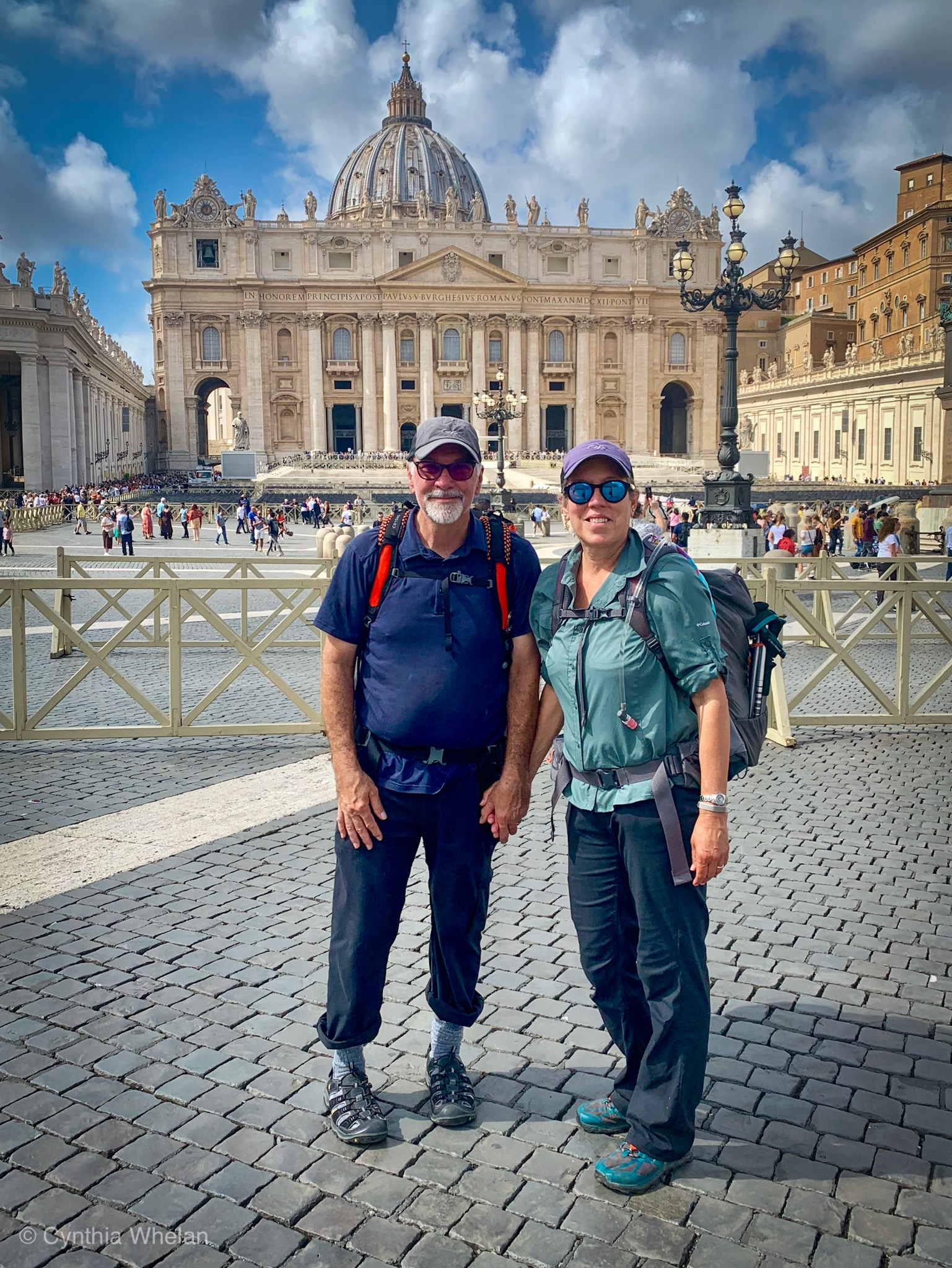 We made it from Assisi to the Vatican with everything in our backpack.