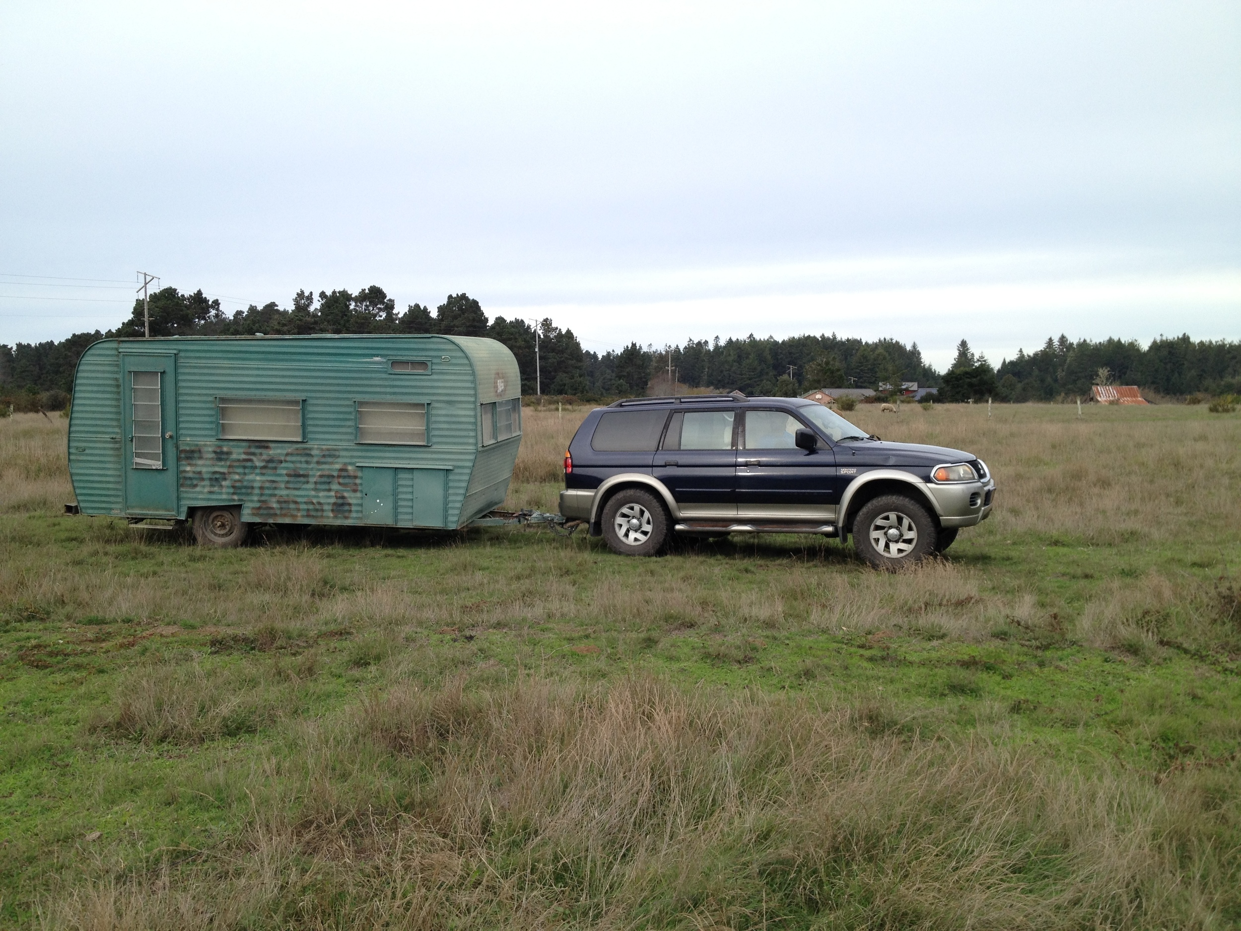 We towed it from Chico to Caspar...