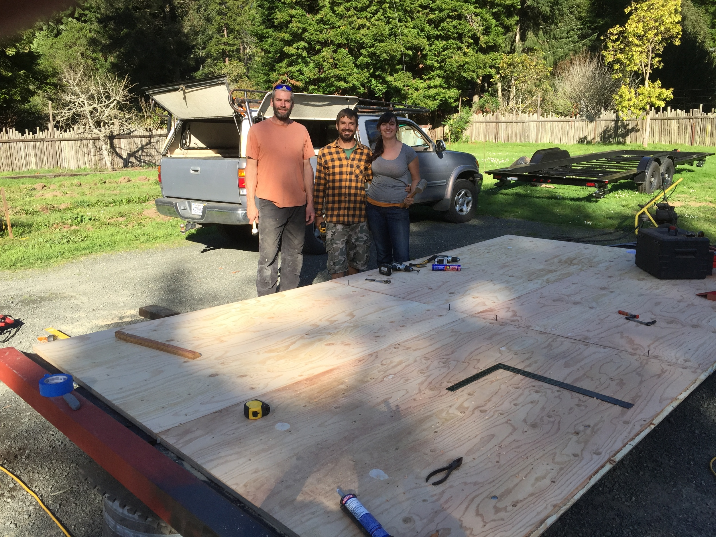 ..and we have a flatbed ready to build on!