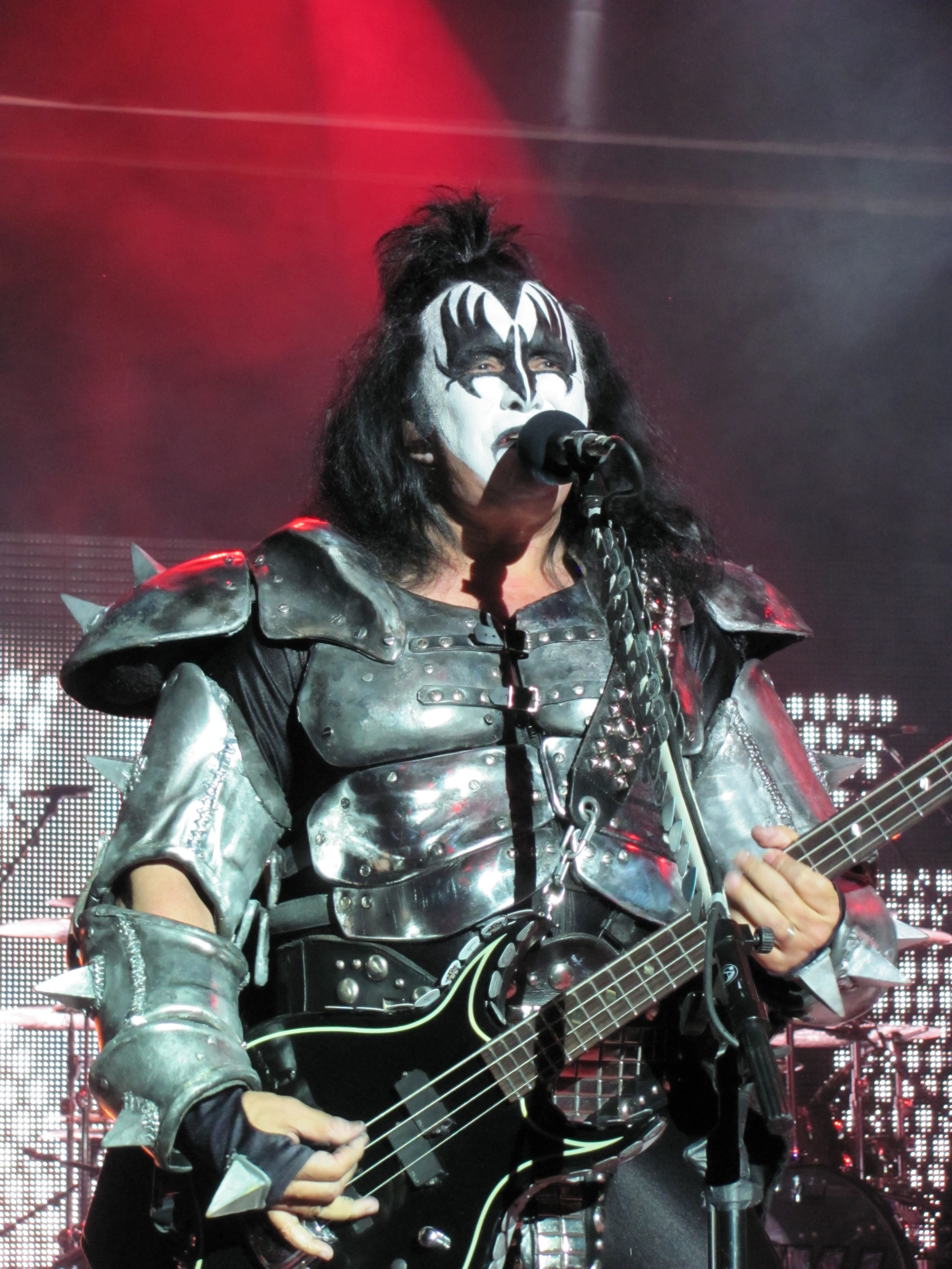 Kiss bassist Gene Simmons performing on the Kiss Kruise in 2011.
