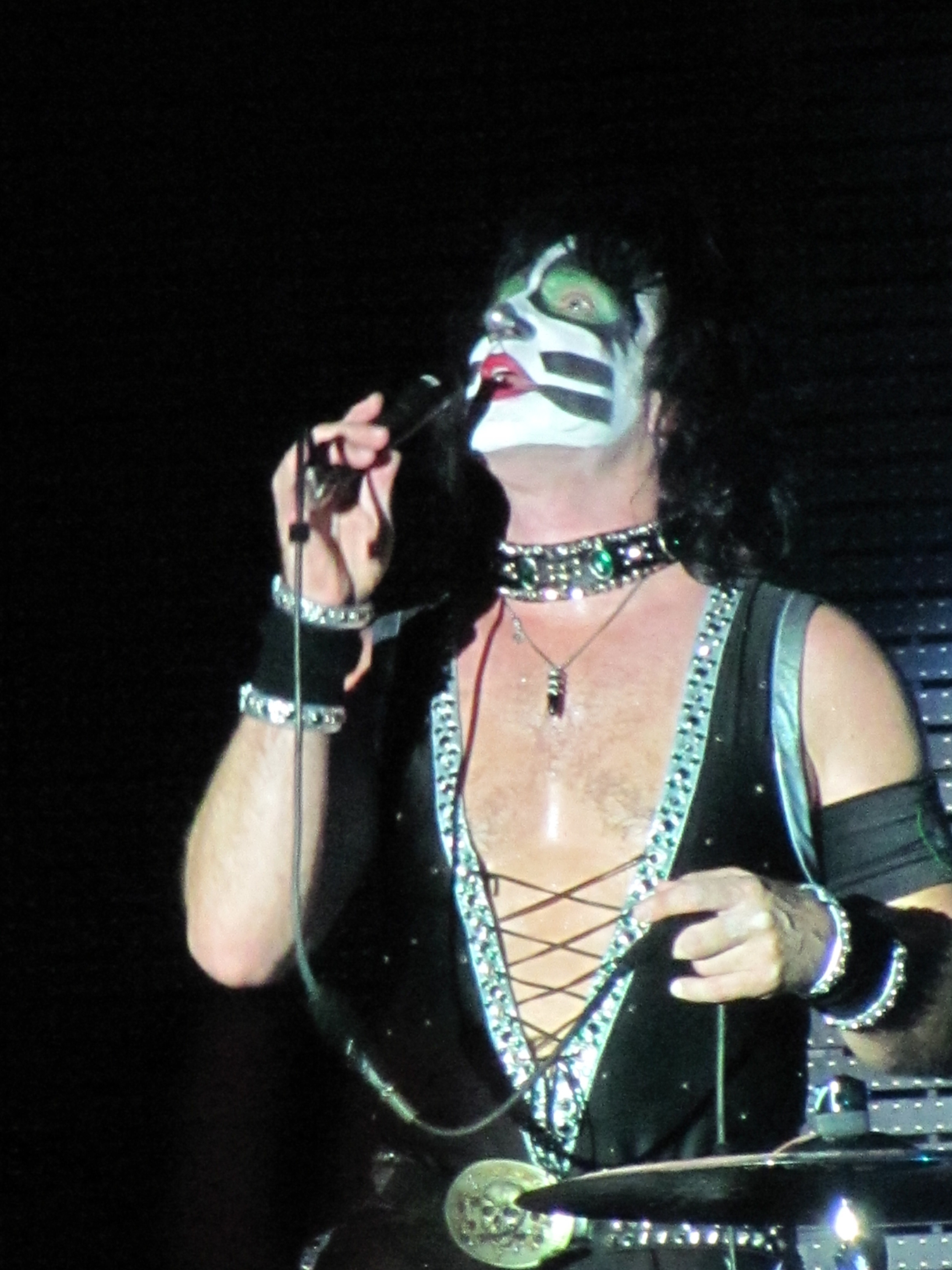 "Drummer Eric Singer belts out ""Beth."""