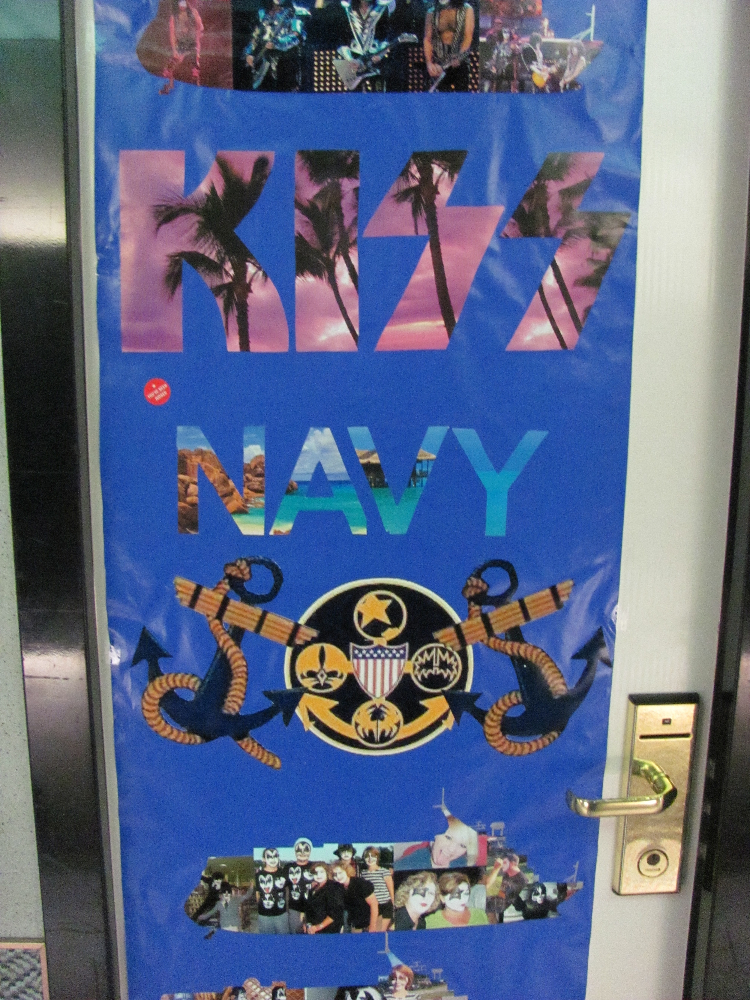 Fans often decorate their doors.