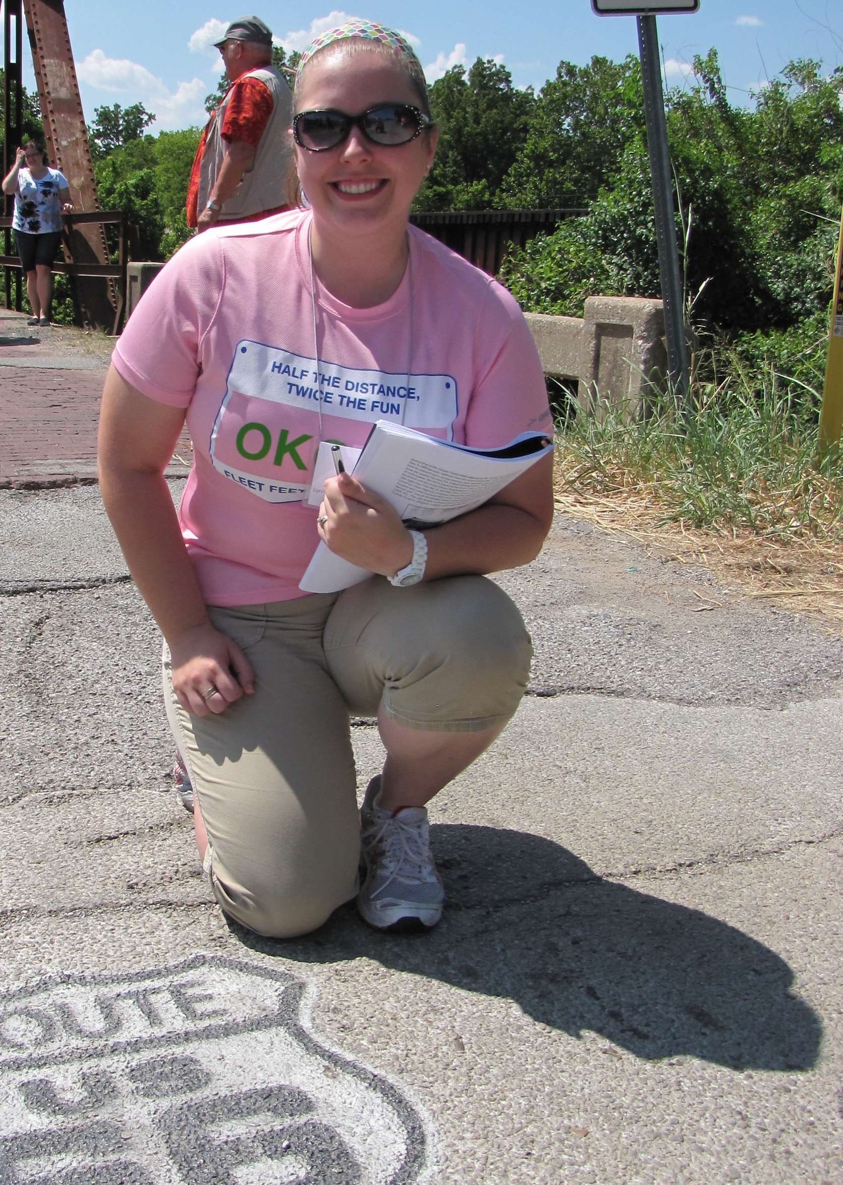 Kellie Miller takes a quick break on one of our great field studies.