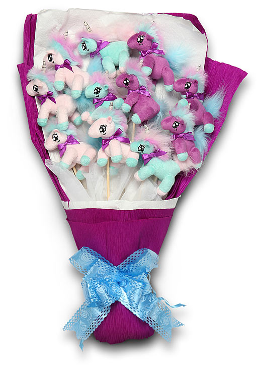 BiFlag Unicorn Bouquet