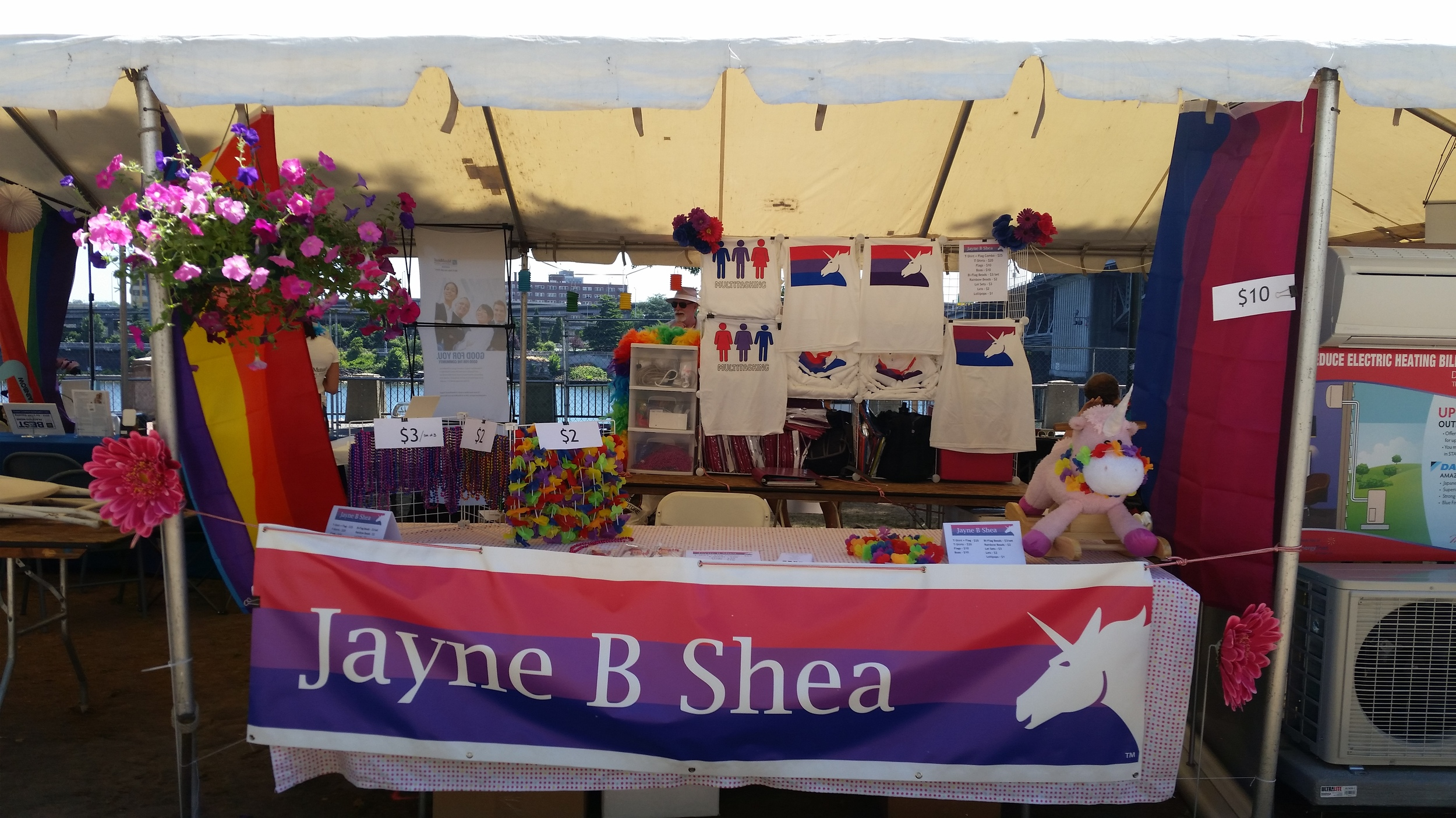My booth at Pride Northwest 2015 in Portland, OR